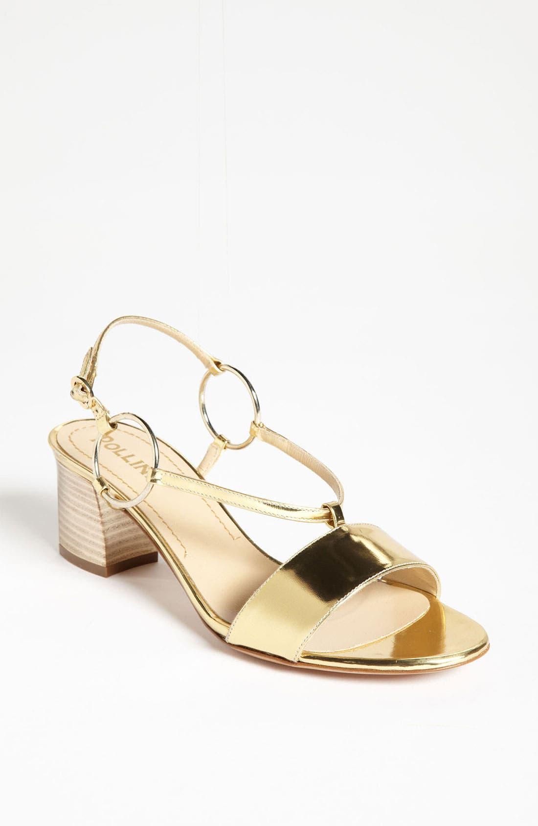 Alternate Image 1 Selected - Pollini Metallic Mid Sandal
