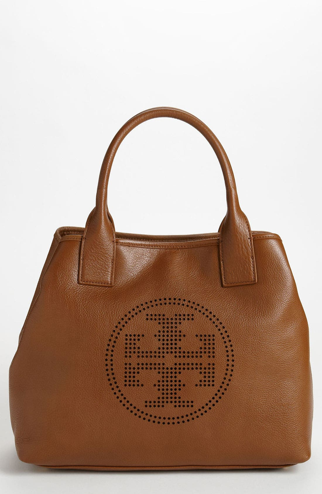 Alternate Image 1 Selected - Tory Burch 'Small' Perforated Logo Classic Tote
