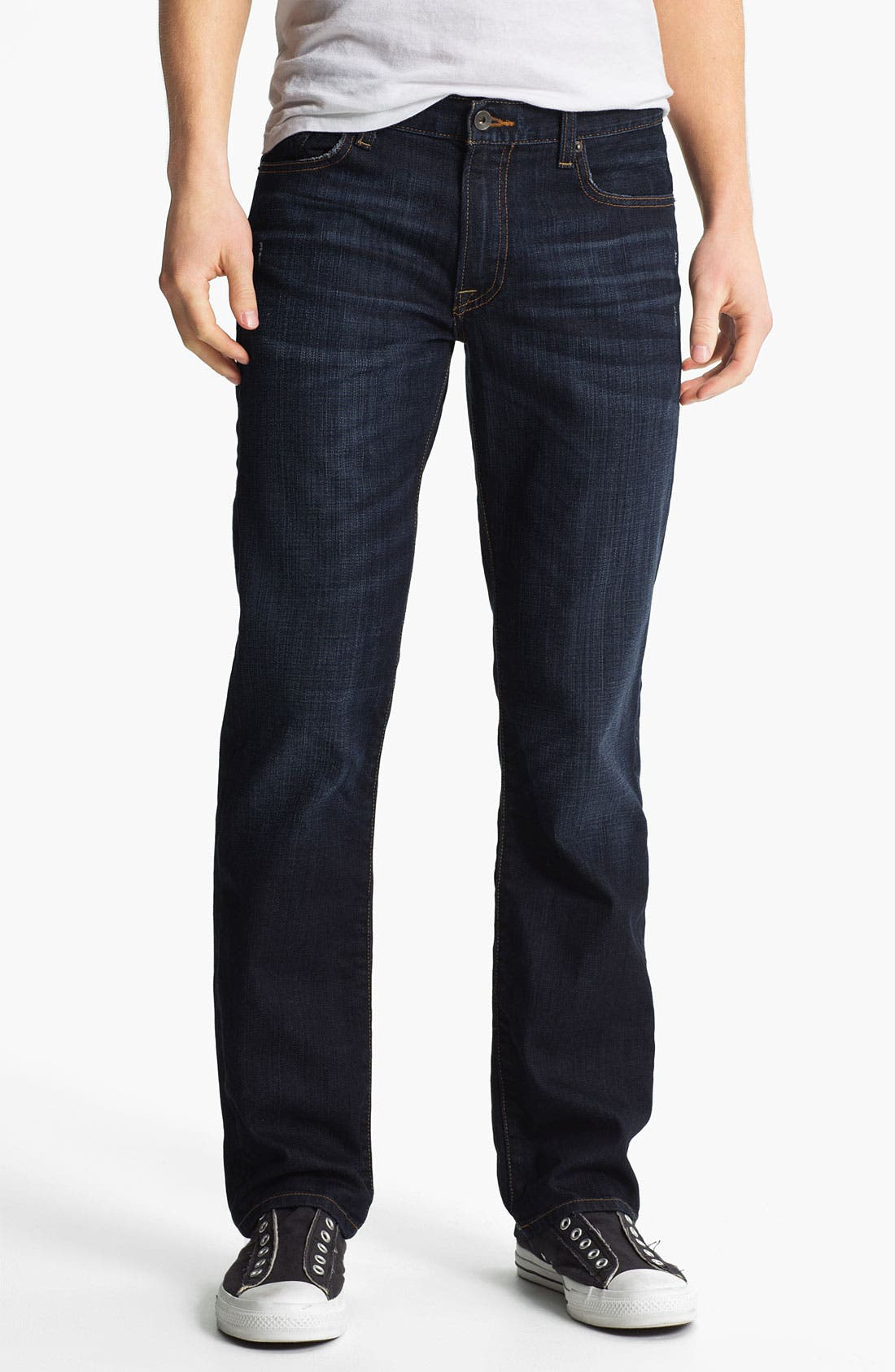 Main Image - Lucky Brand '221 Original' Straight Leg Jeans (Dark Kenfield)