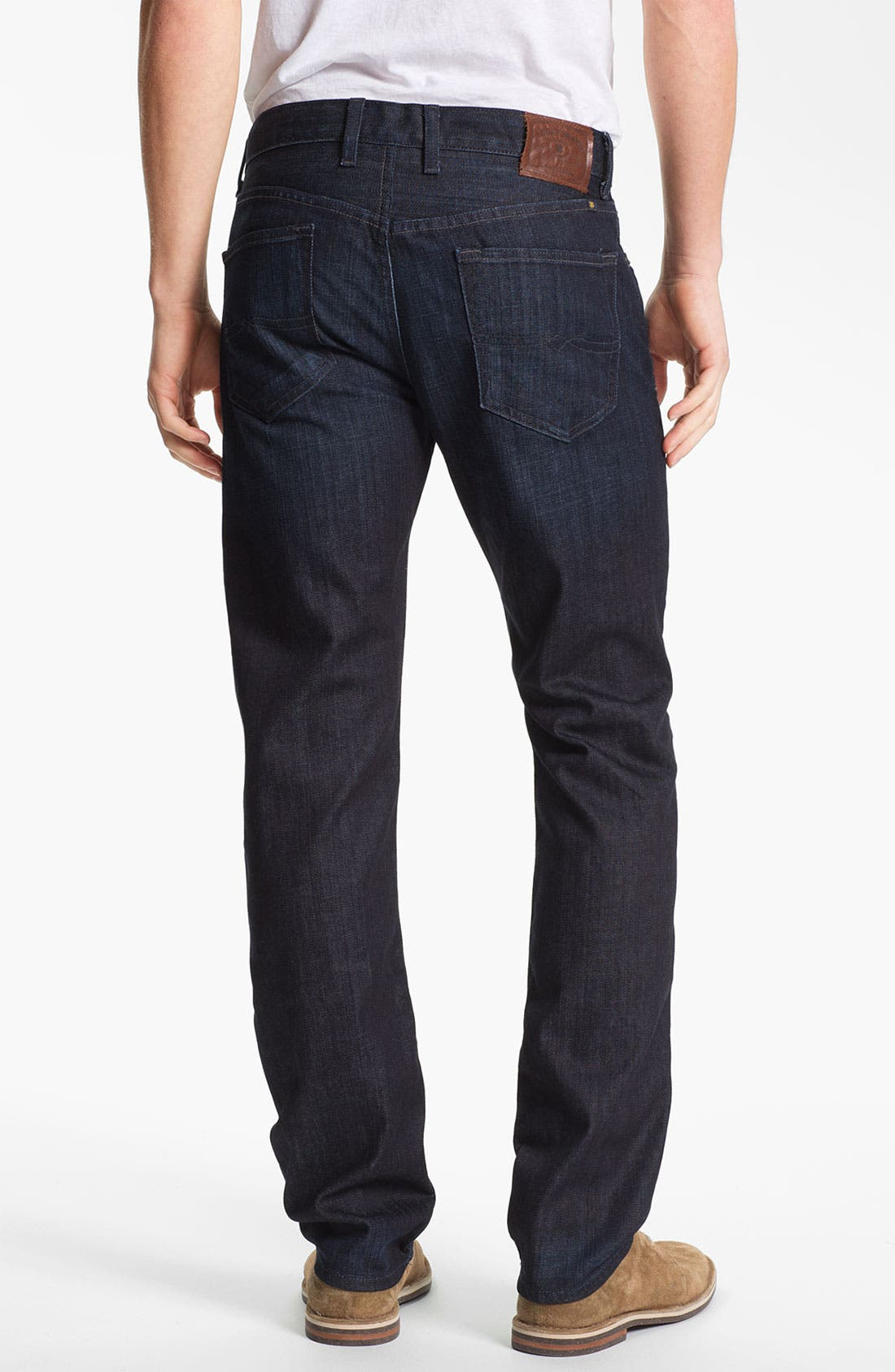 Alternate Image 2  - Lucky Brand 'Dean' Straight Leg Jeans (Dark Kingston) (Online Only)