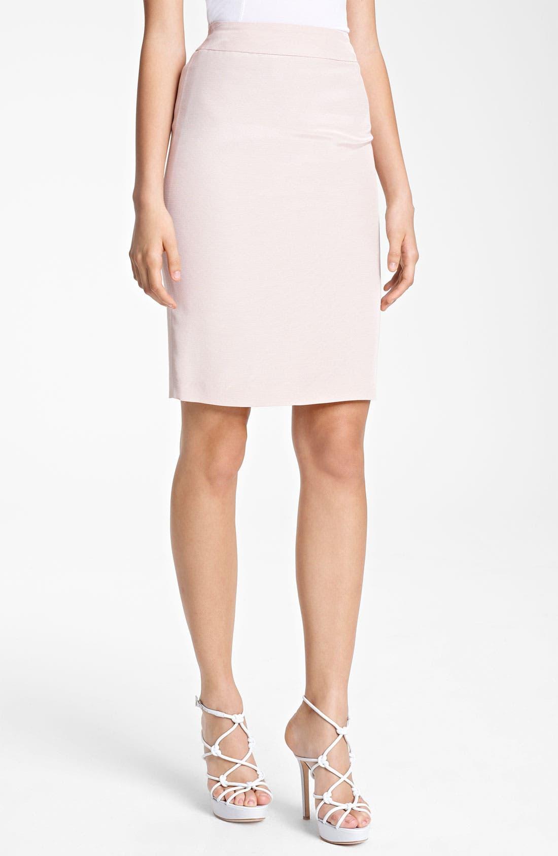 Main Image - Armani Collezioni Faille Pencil Skirt