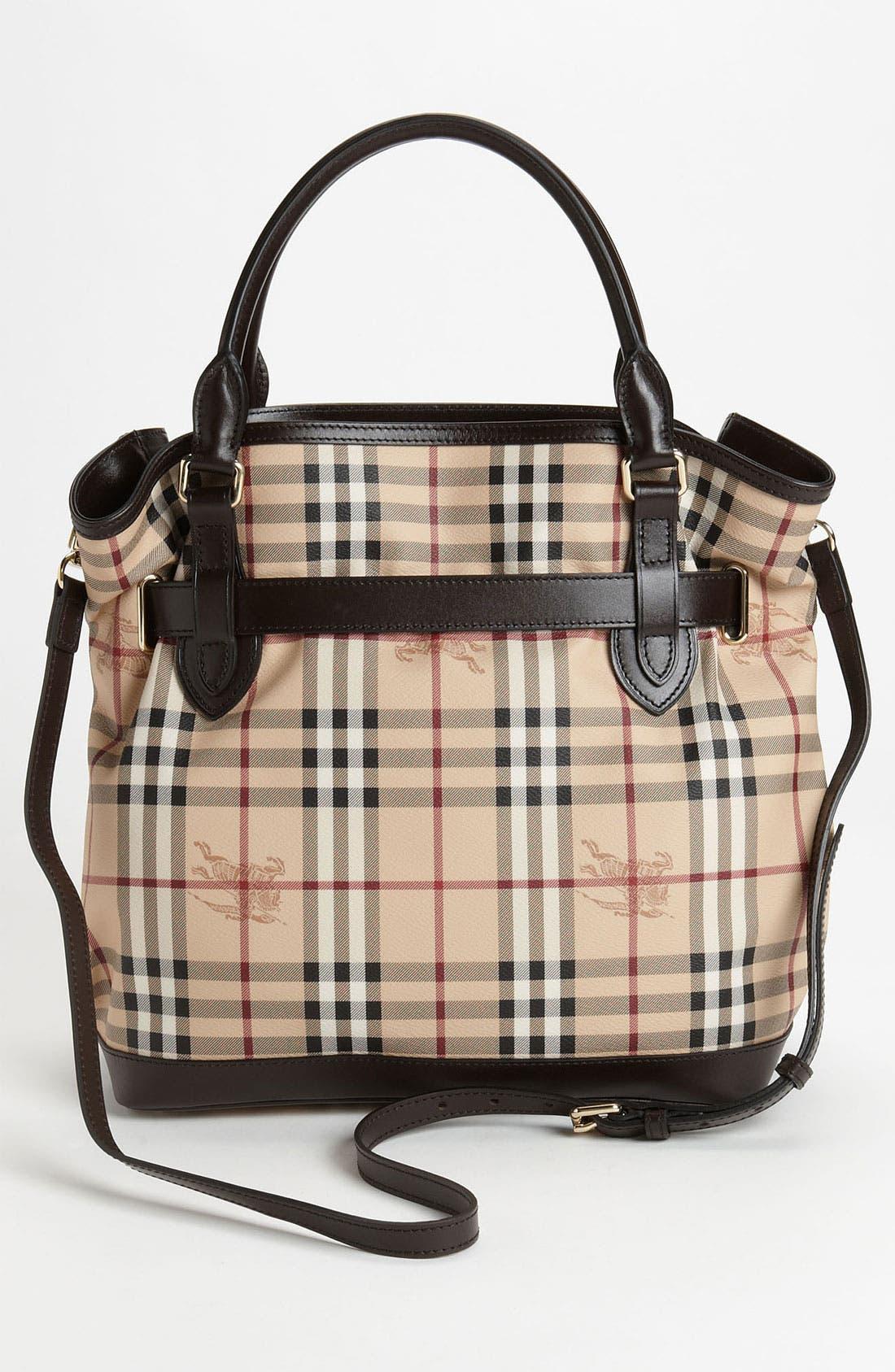 Alternate Image 4  - Burberry Belted Check Print Shoulder Bag