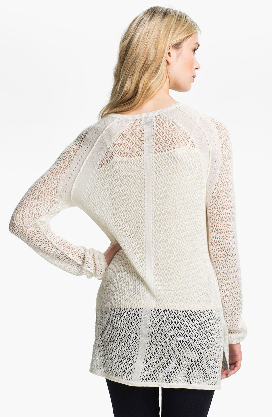 Alternate Image 2  - Ella Moss 'Julia' Pointelle Tunic Sweater