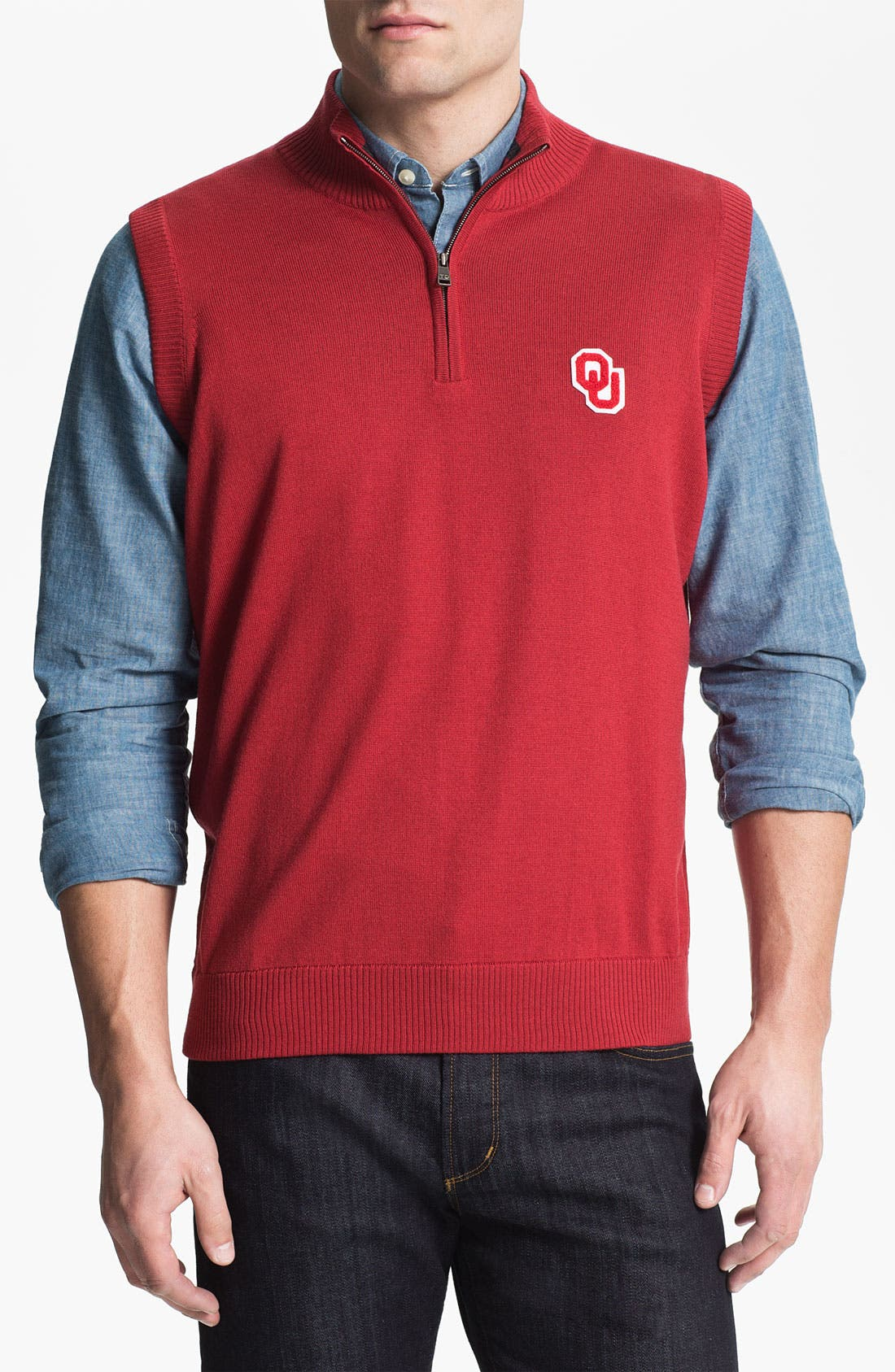 Alternate Image 1 Selected - OKLAHOMA 1/4 ZIP SWEATER VEST
