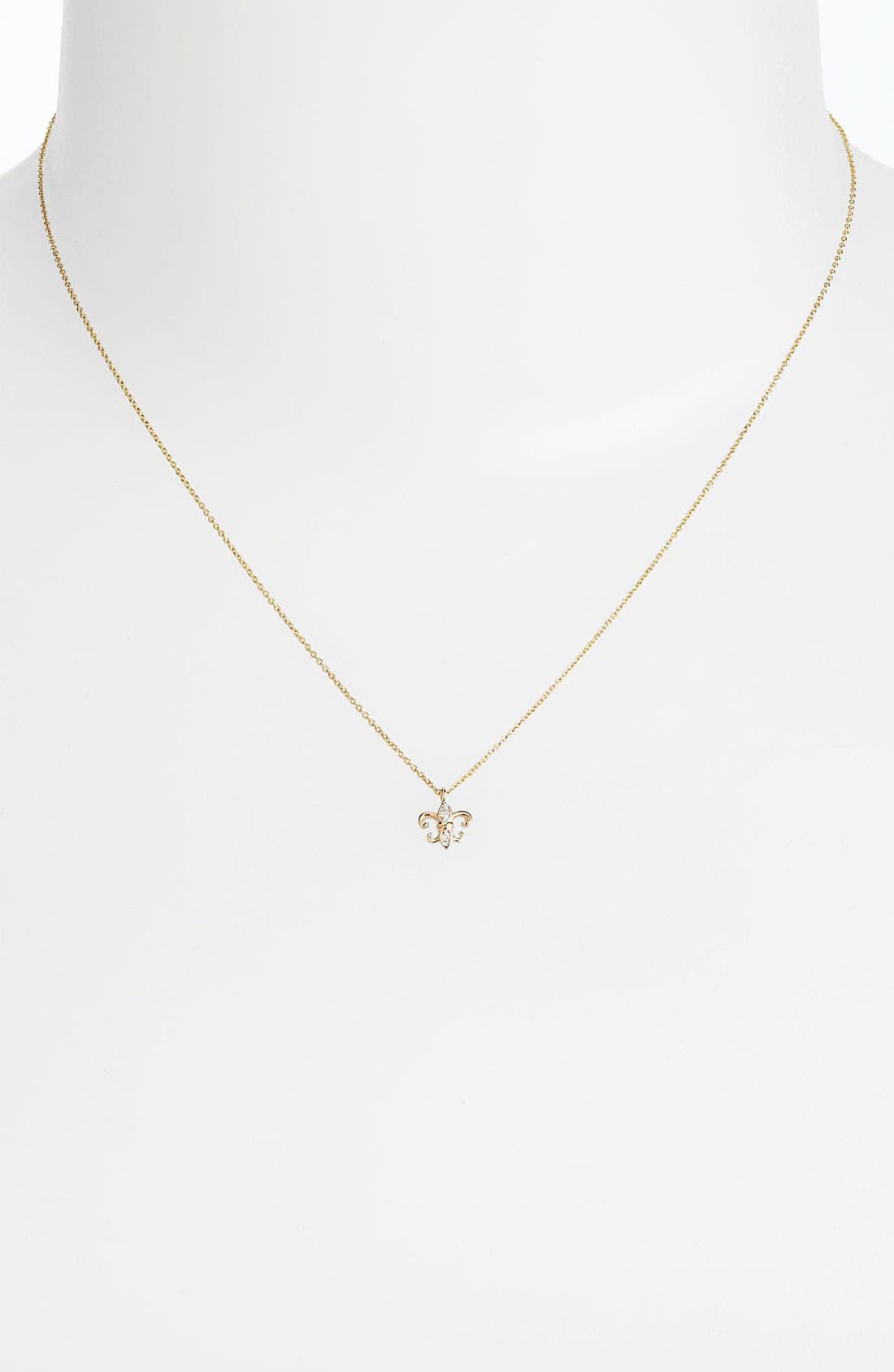 Main Image - Whitney Stern Fleur de Lis Pendant Necklace