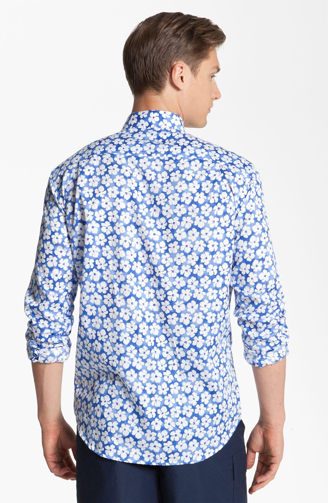 Alternate Image 2  - Vilebrequin Print Cotton Sport Shirt