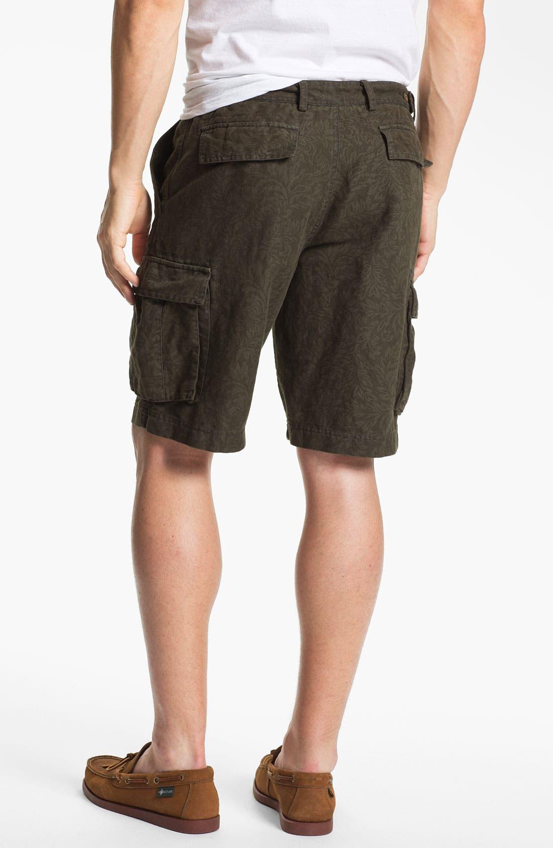 Alternate Image 2  - Wallin & Bros. 'Woodland' Flat Front Cargo Shorts