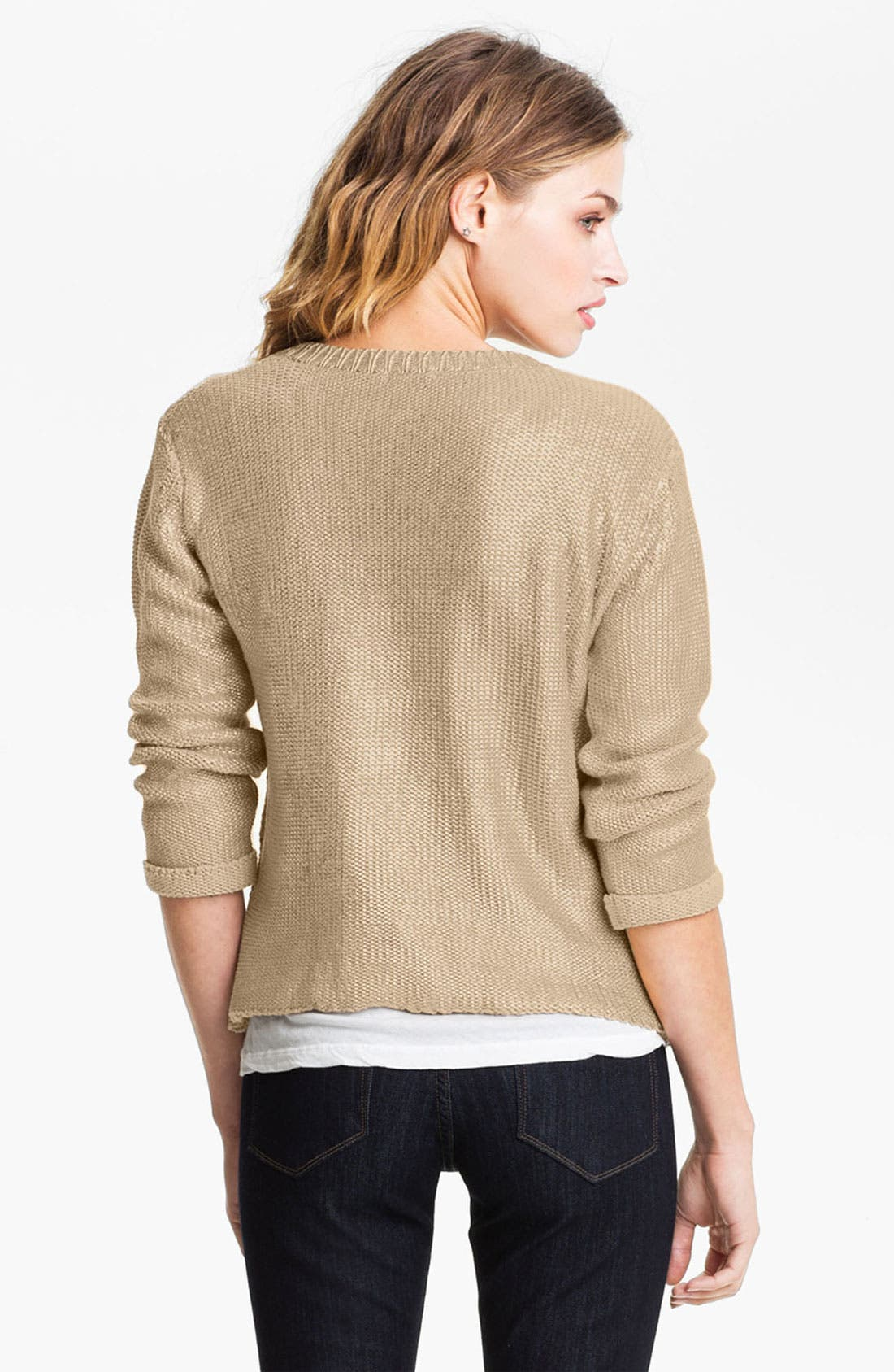 Alternate Image 2  - Gibson Metallic Cable Cardigan
