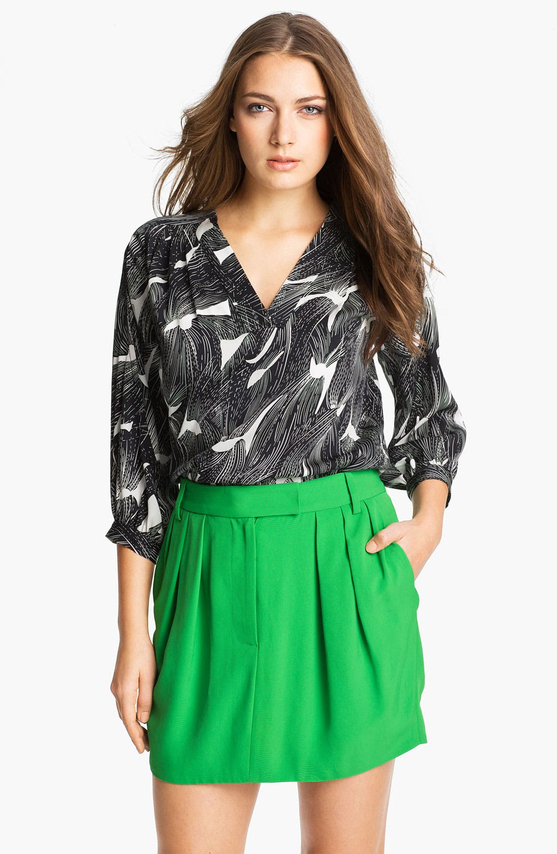 Alternate Image 1 Selected - Diane von Furstenberg 'Cahil' Stretch Silk Blouse