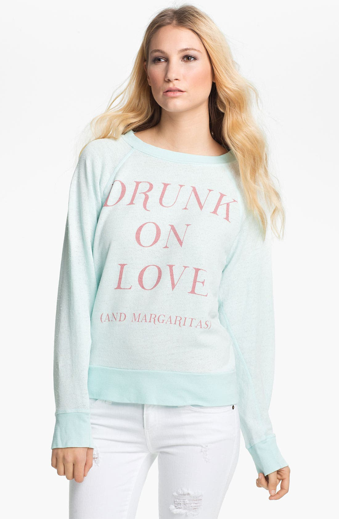 Main Image - Wildfox 'Drunk On Love' Graphic Sweatshirt