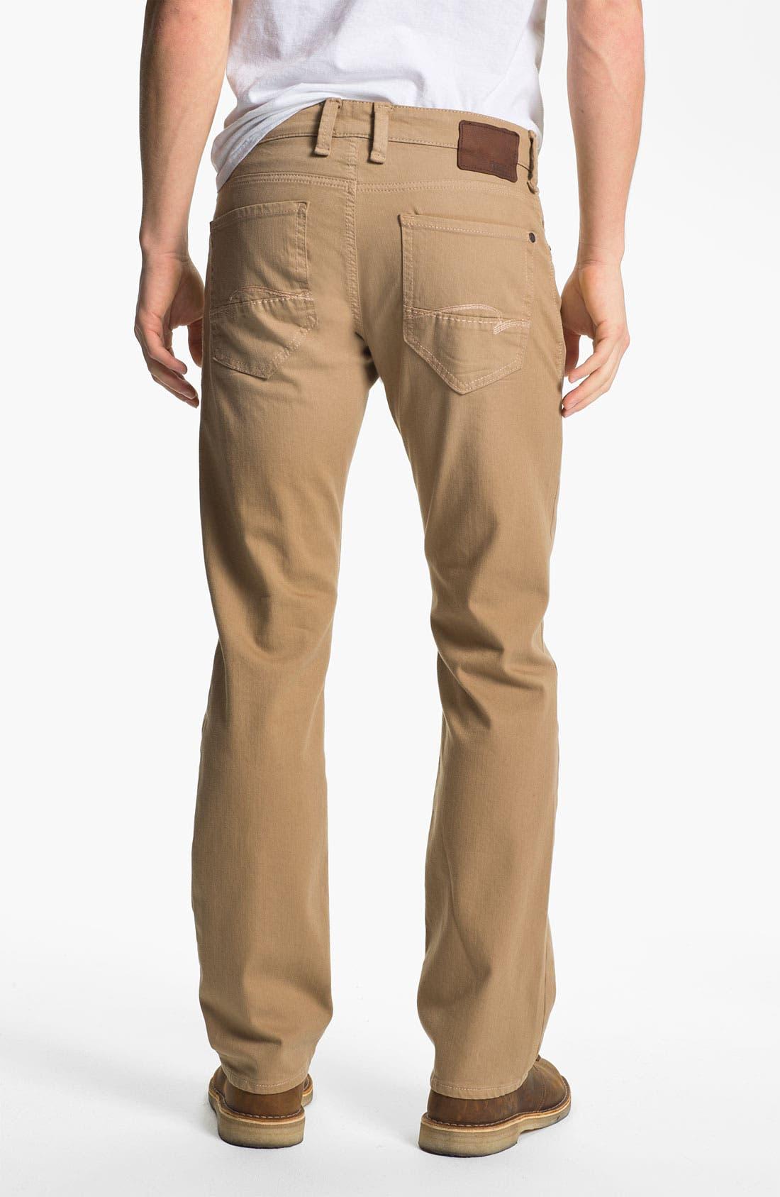 Main Image - Mavi 'Zach' Straight Leg Jeans (Sand)
