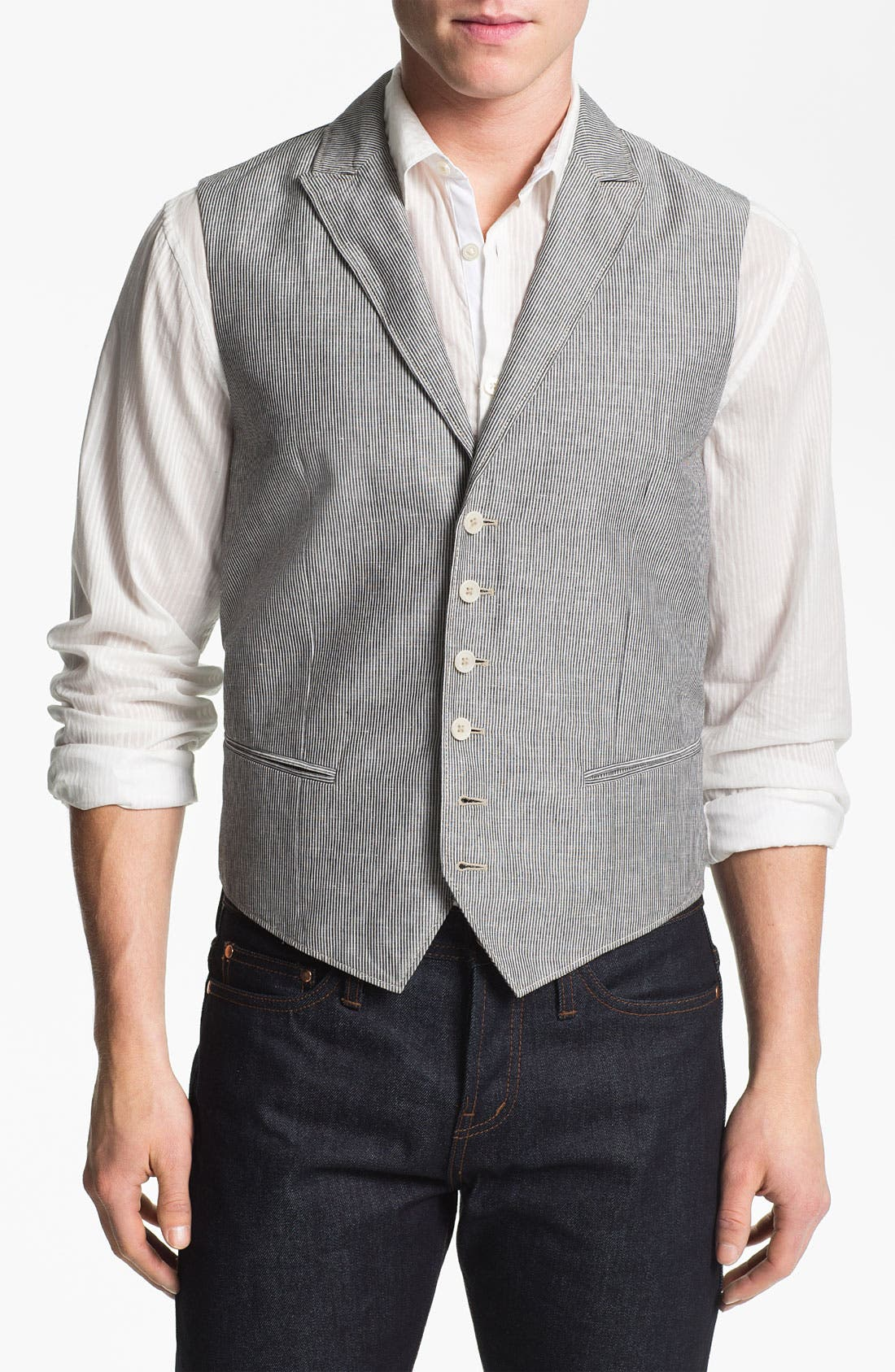 Alternate Image 1 Selected - John Varvatos Star USA Wire Lapel Vest