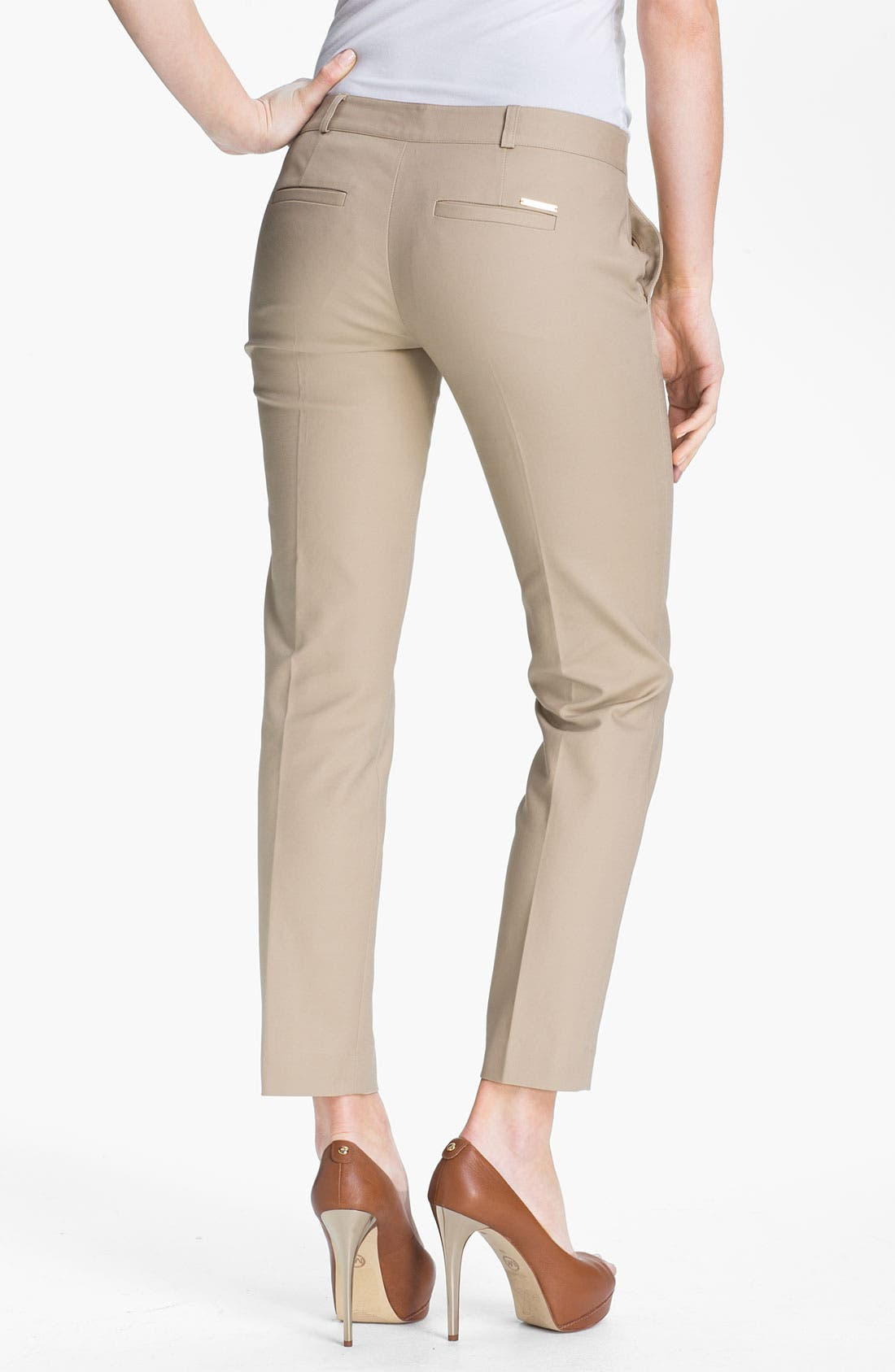 Alternate Image 2  - MICHAEL Michael Kors Skinny Ankle Pants (Regular & Petite)