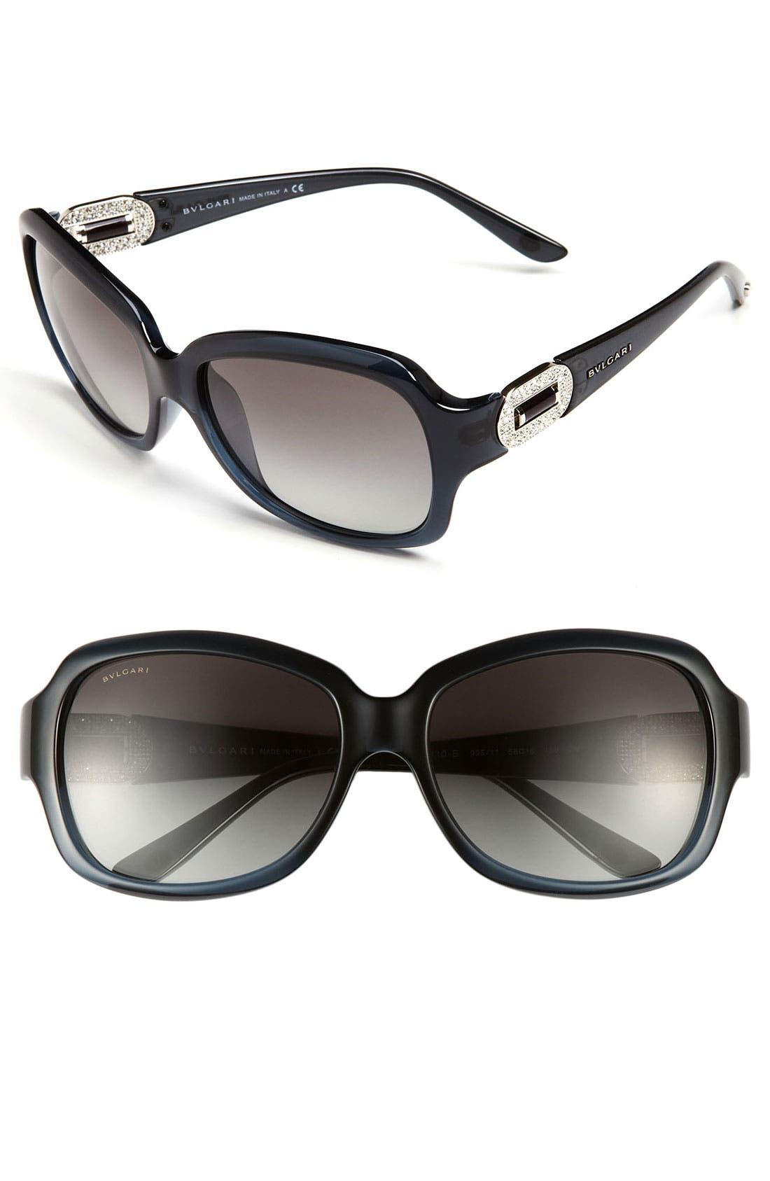 Main Image - BVLGARI Oversized Sunglasses