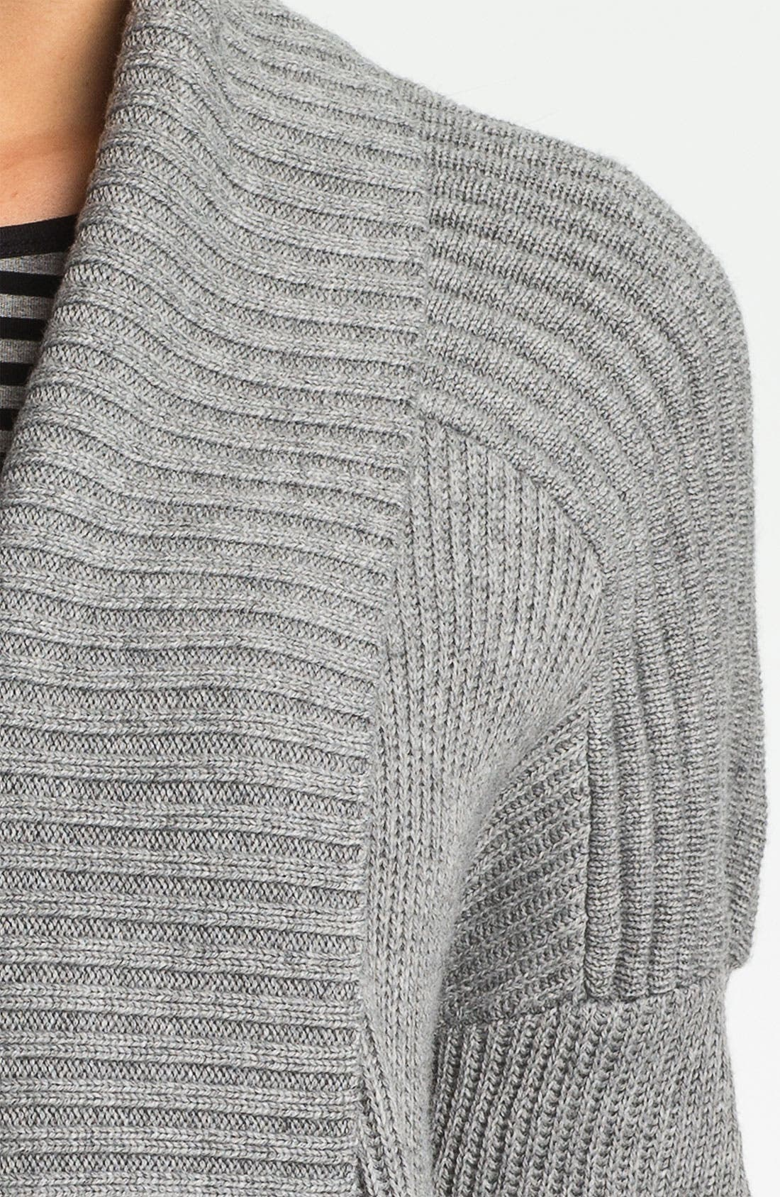 Alternate Image 3  - Vince Camuto Open Front Ribbed Cardigan