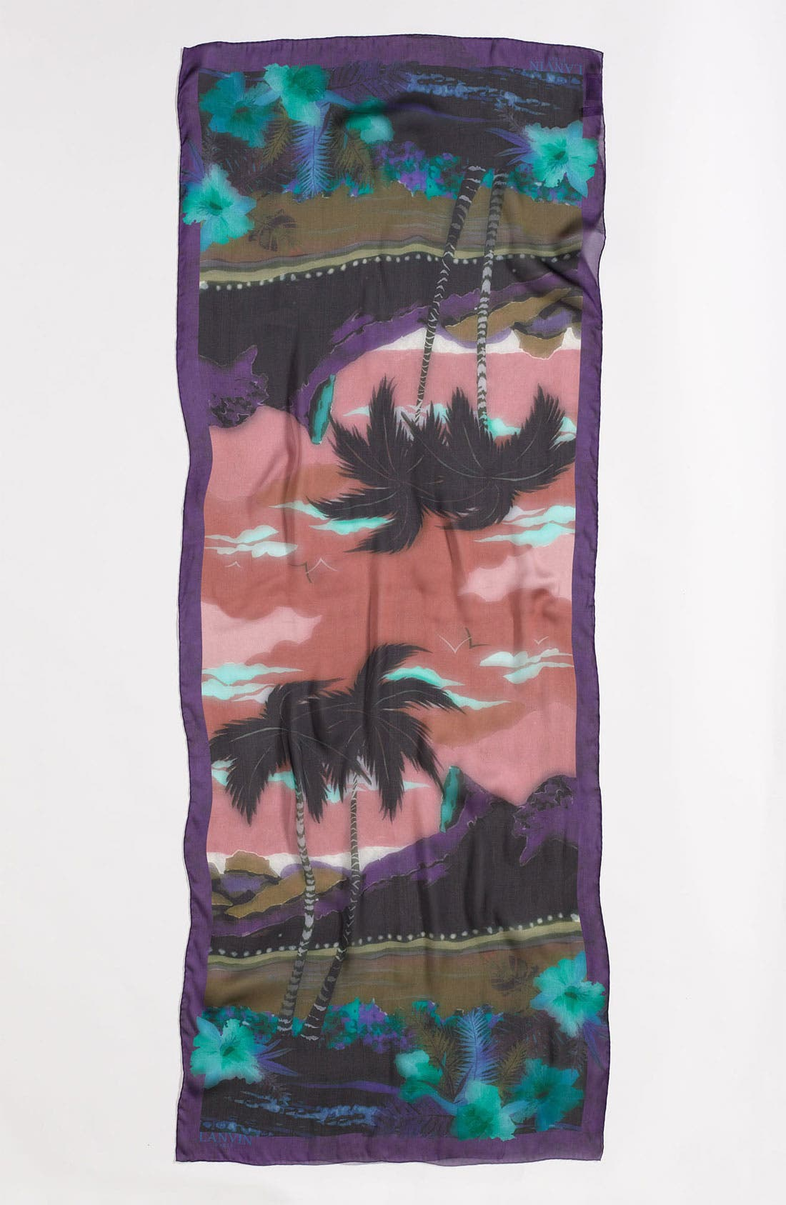 Alternate Image 2  - Lanvin 'Palm' Silk Scarf