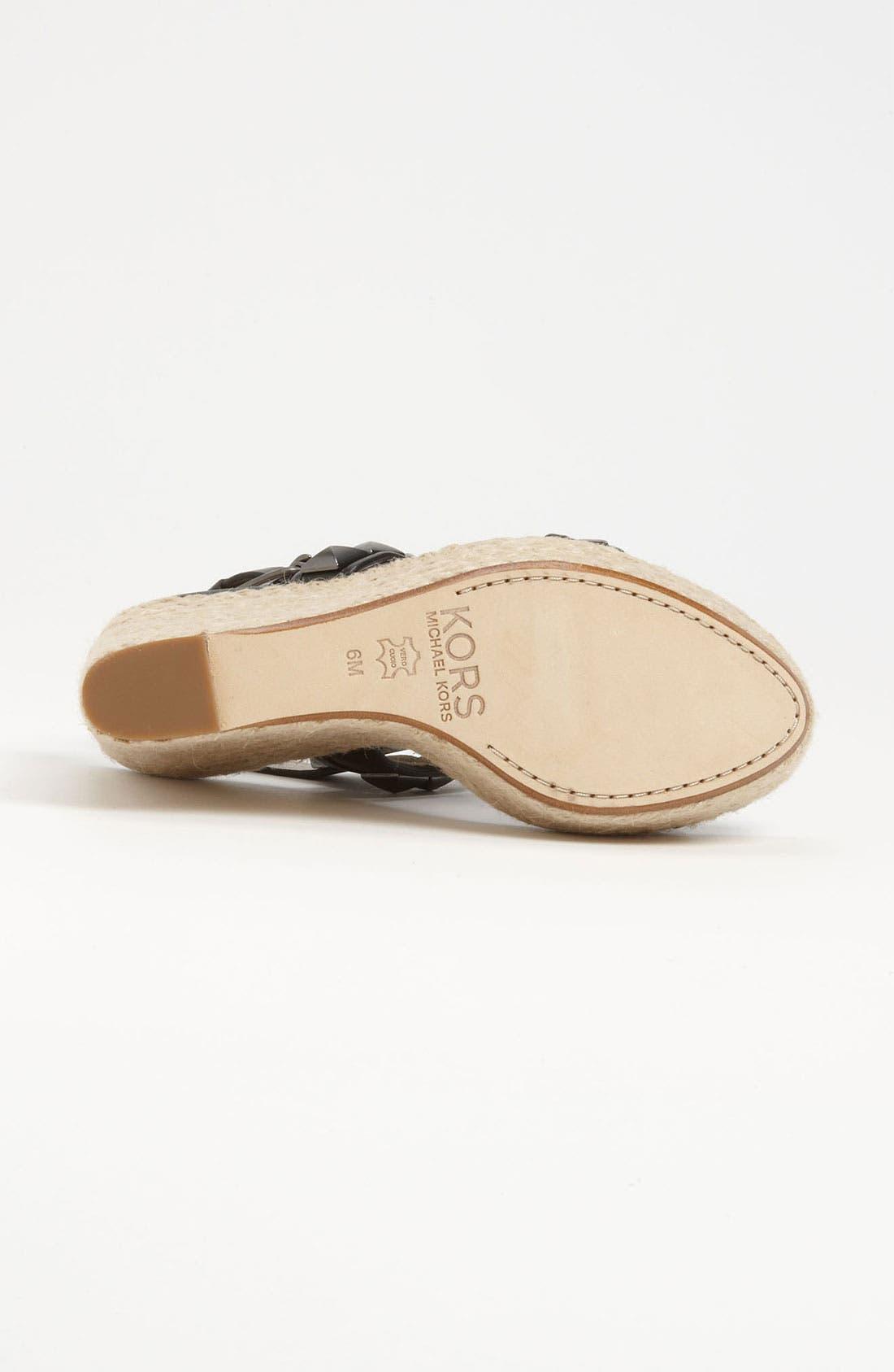 Alternate Image 4  - KORS Michael Kors 'Corban' Wedge Sandal