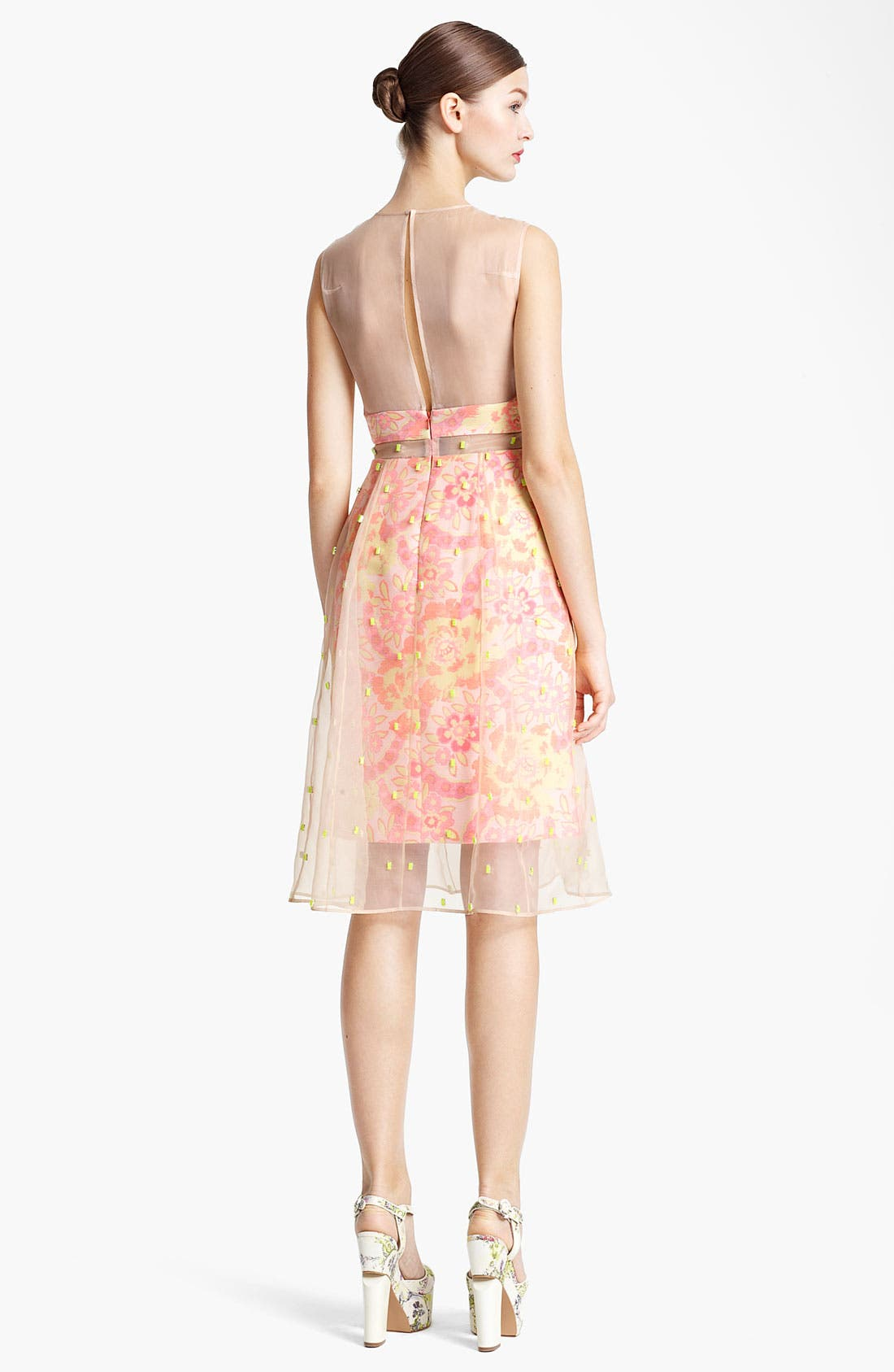 Alternate Image 2  - Erdem Damask Jacquard & Beaded Organza Dress