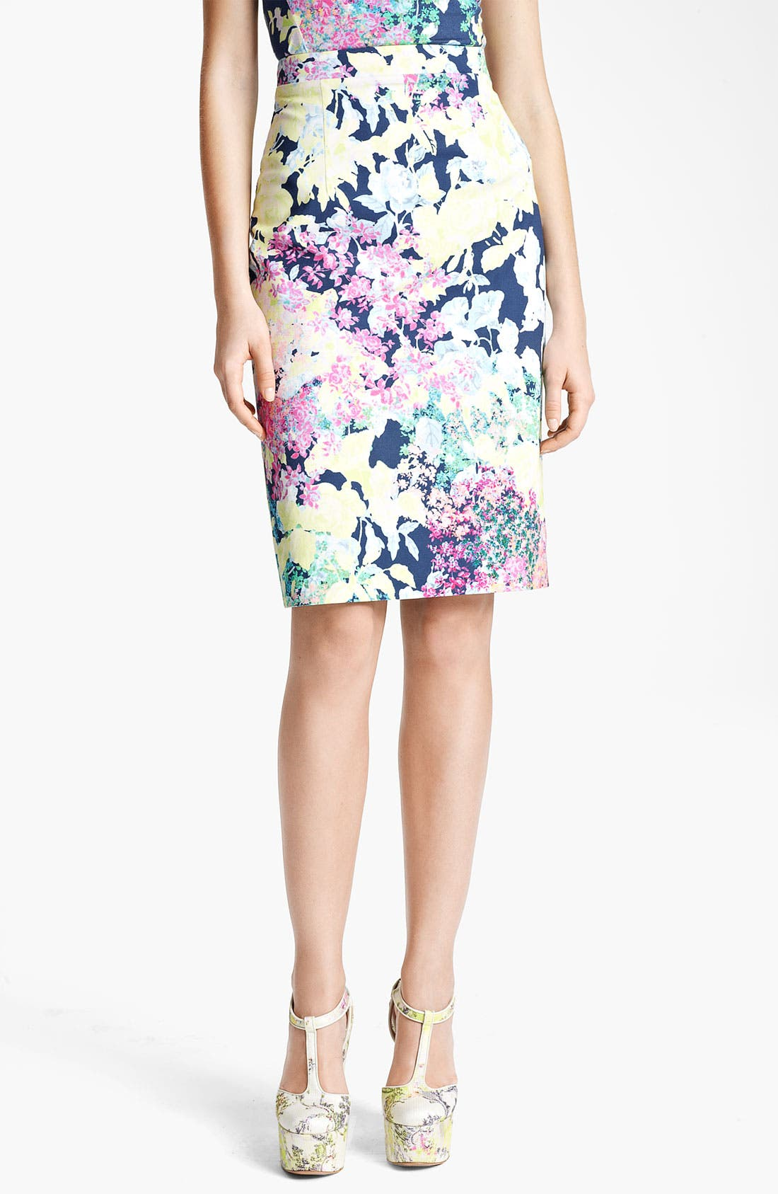 Main Image - Erdem 'Imperial Rose' Print Pencil Skirt