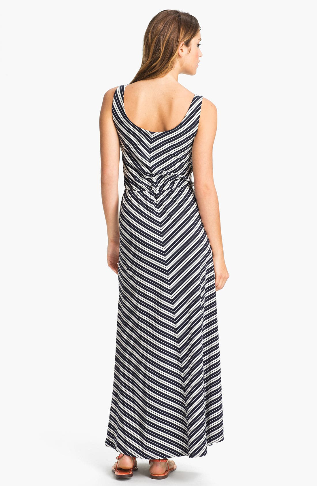 Alternate Image 2  - Olive & Oak Chevron Stripe Maxi Dress