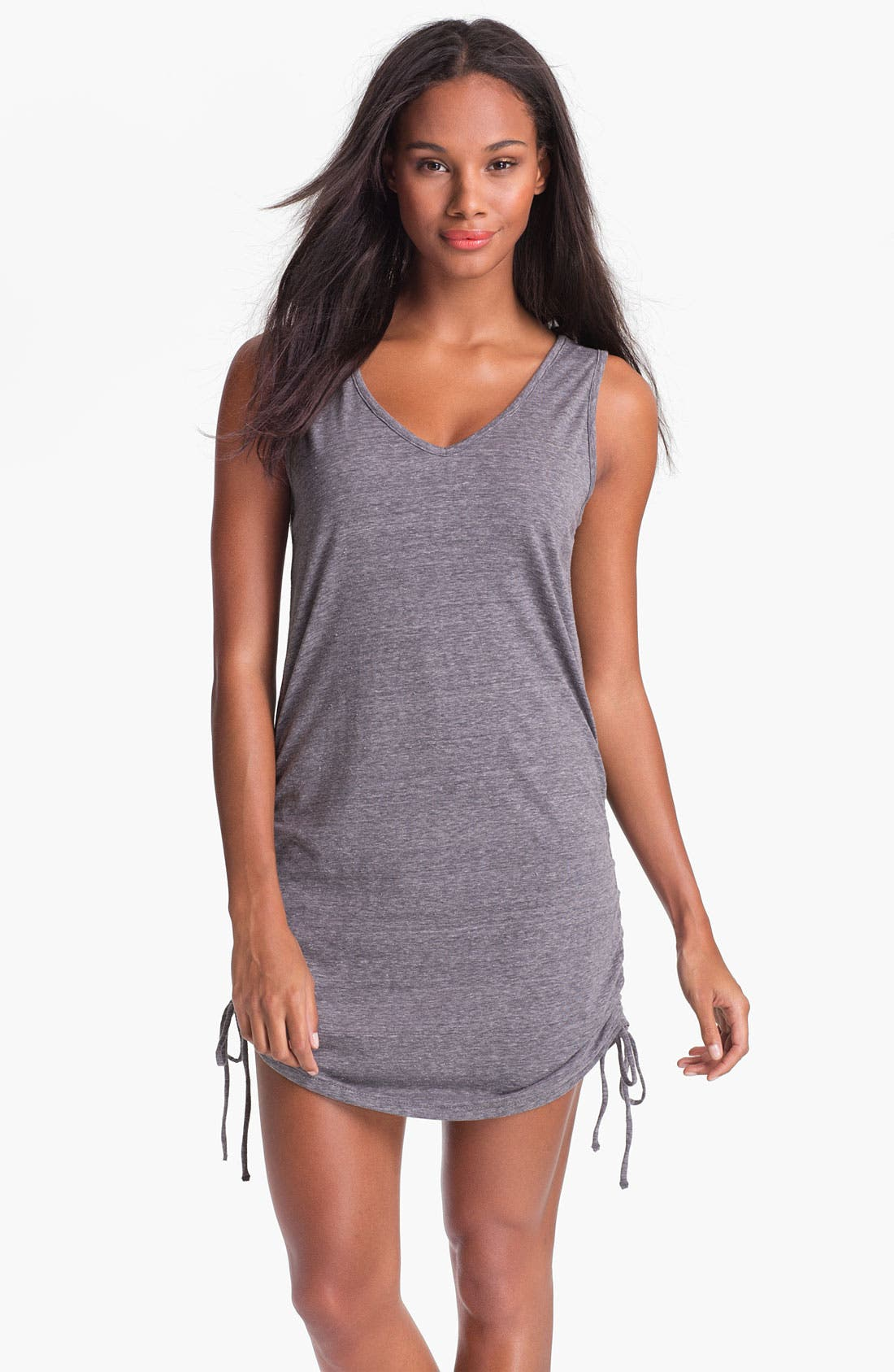 Alternate Image 1 Selected - Eco Swim Shirred Side Cover-Up