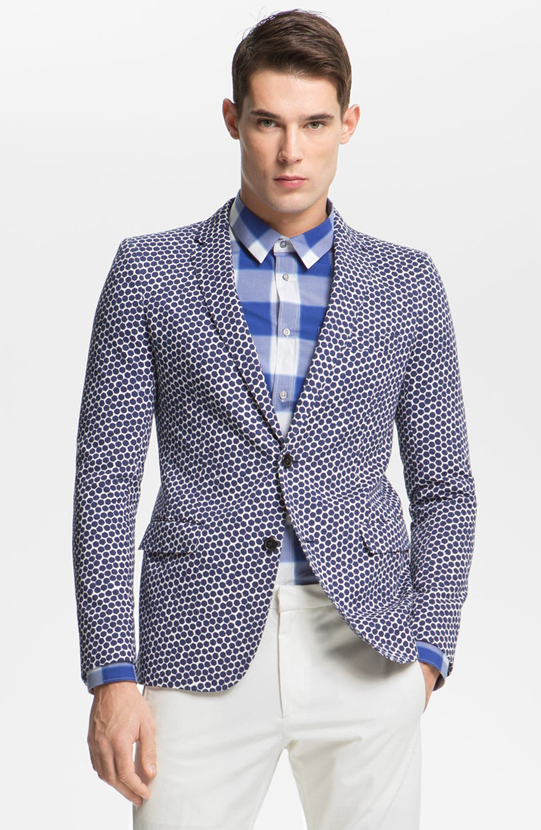 Alternate Image 1 Selected - Jil Sander Hexagon Print Blazer