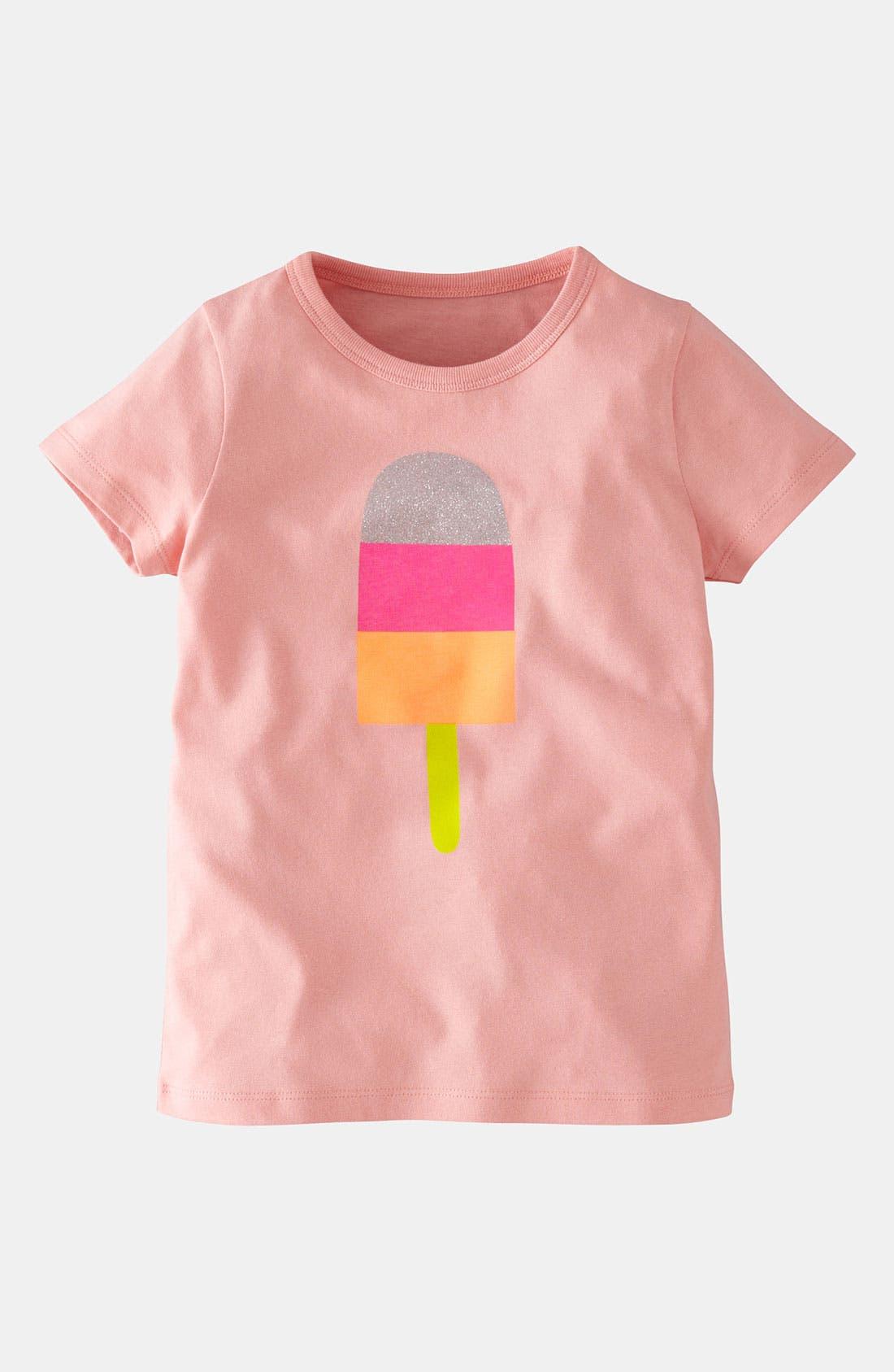 Alternate Image 1 Selected - Mini Boden 'Glittery' Graphic Tee (Little Girls & Big Girls)