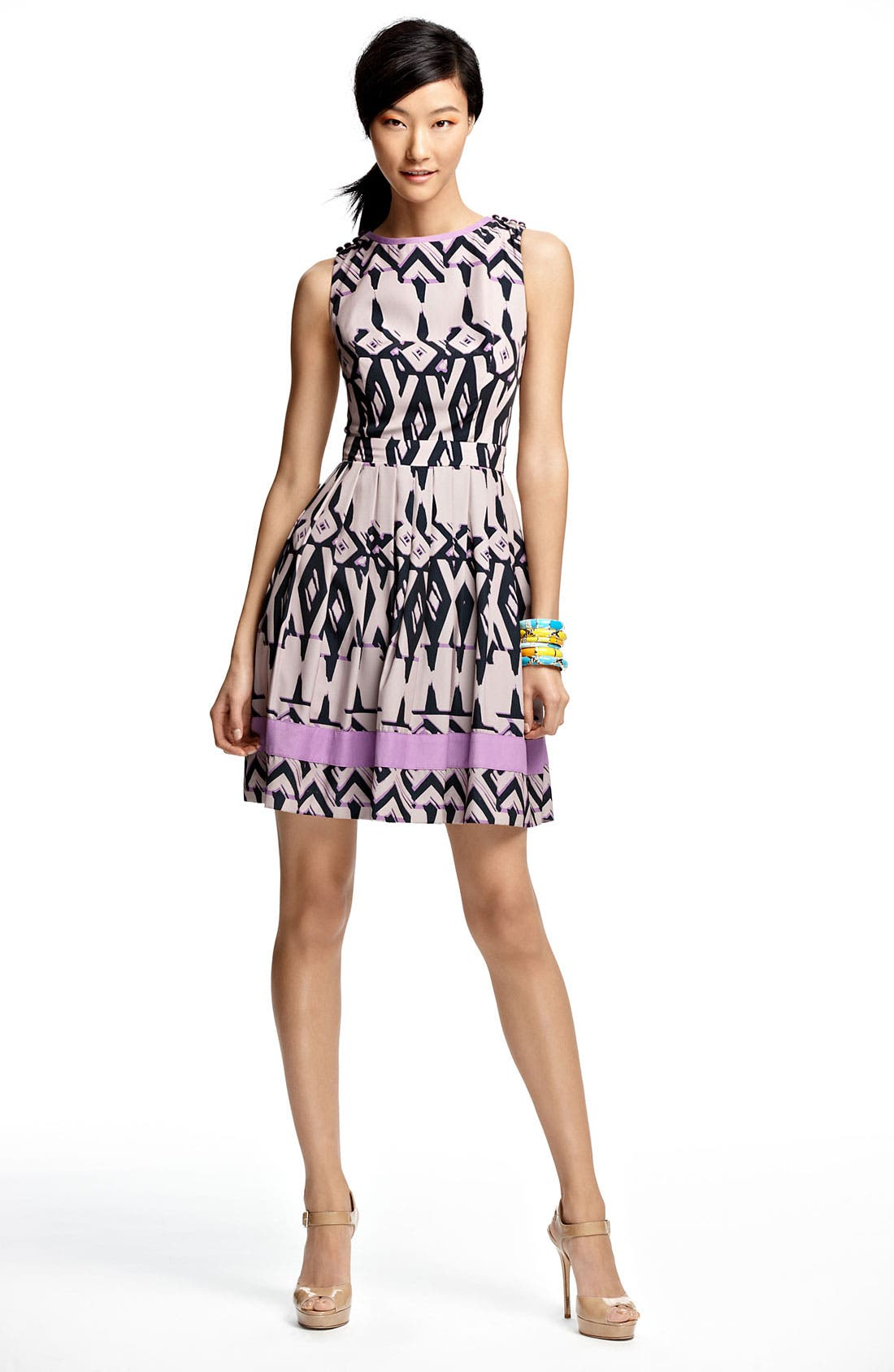 Alternate Image 4  - Jessica Simpson Print Fit & Flare Dress