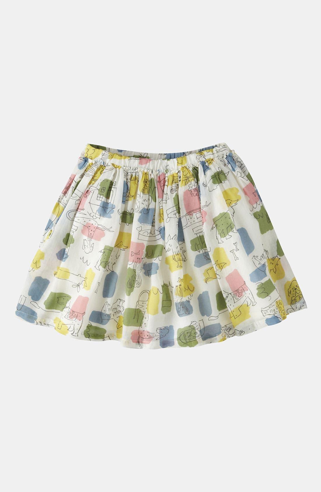 Alternate Image 1 Selected - Mini Boden 'Fun' Print Skirt (Little Girls & Big Girls)