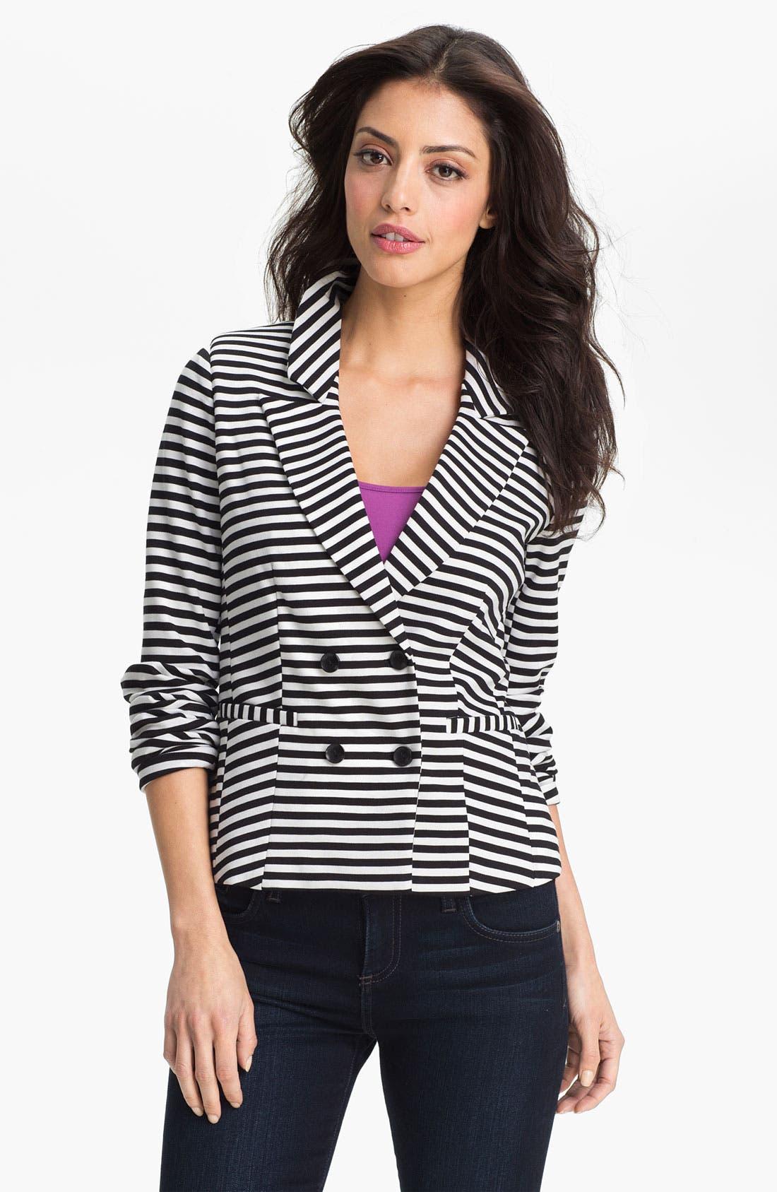 Main Image - Halogen Stripe Ponte Jacket