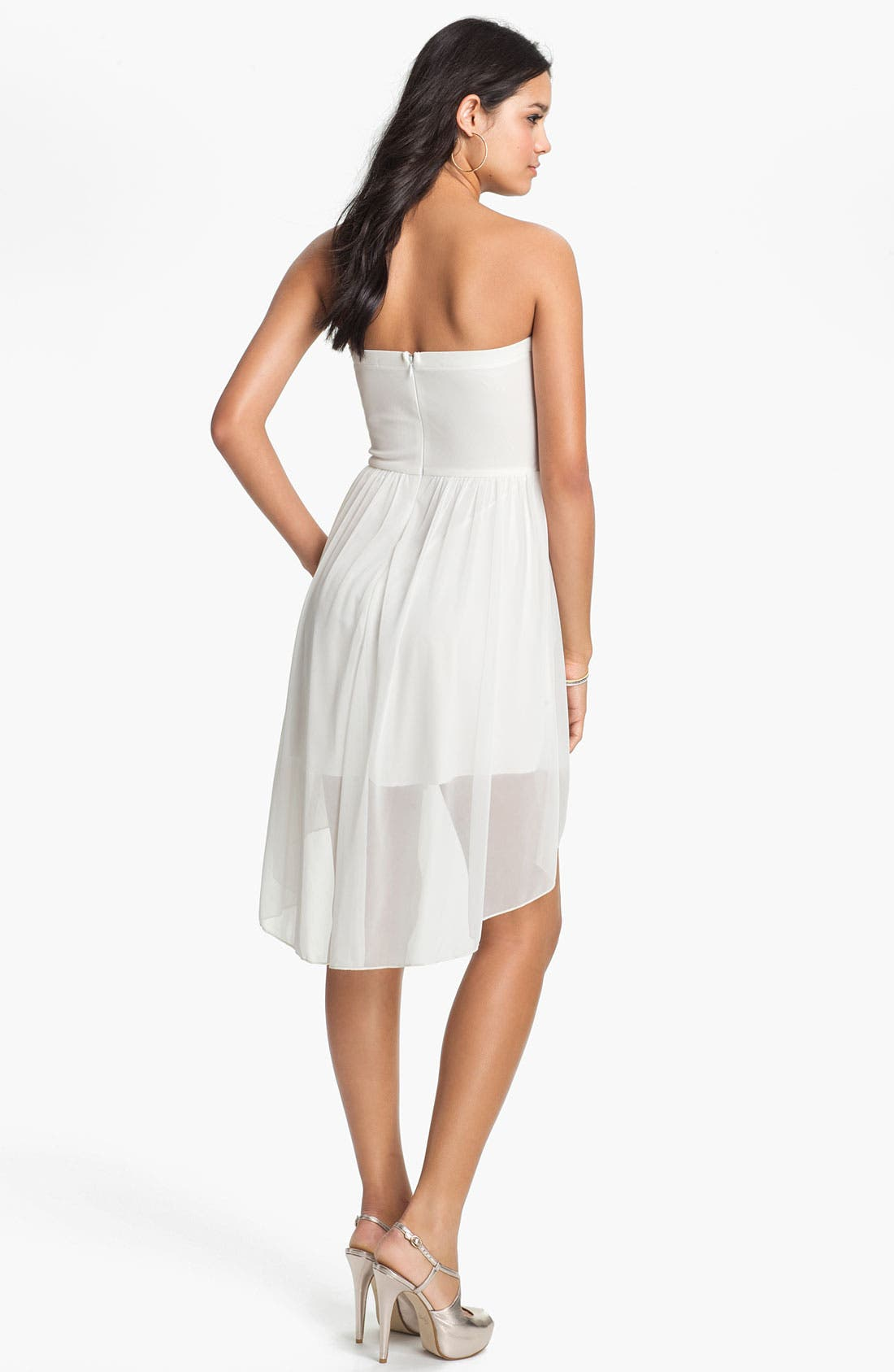 Alternate Image 2  - Trixxi Sequin Strapless Goddess Dress (Juniors)