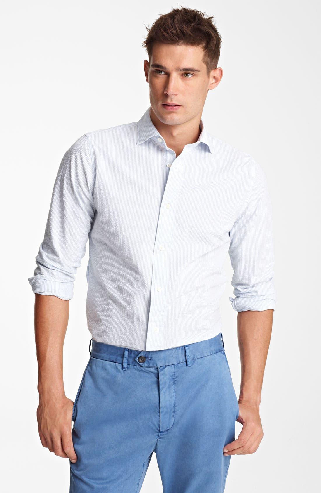 Alternate Image 1 Selected - Jack Spade 'Trombo' Seersucker Stripe Shirt