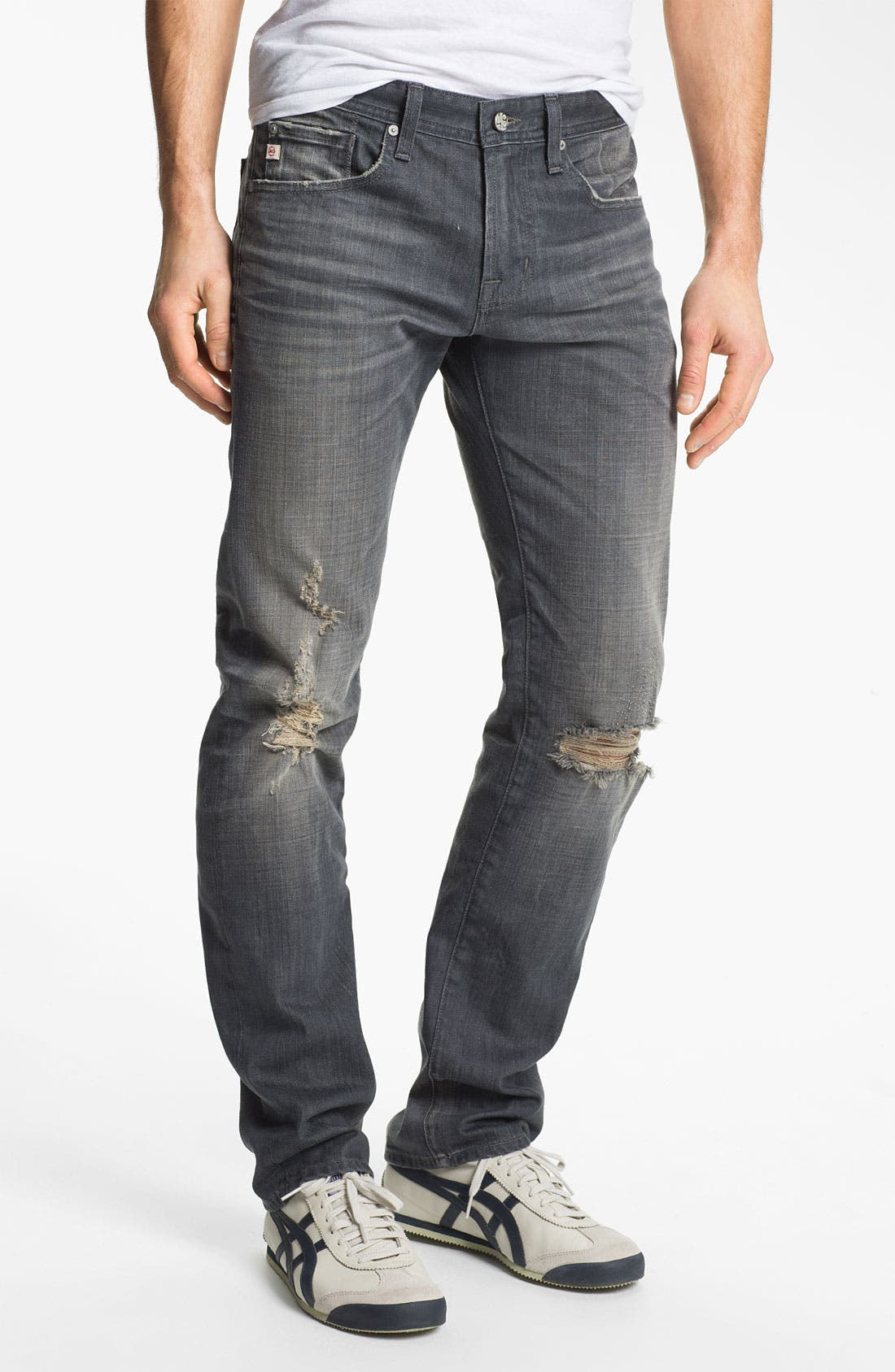 Alternate Image 1 Selected - AG 'Matchbox' Slim Fit Jeans (6 Year Destroyed)