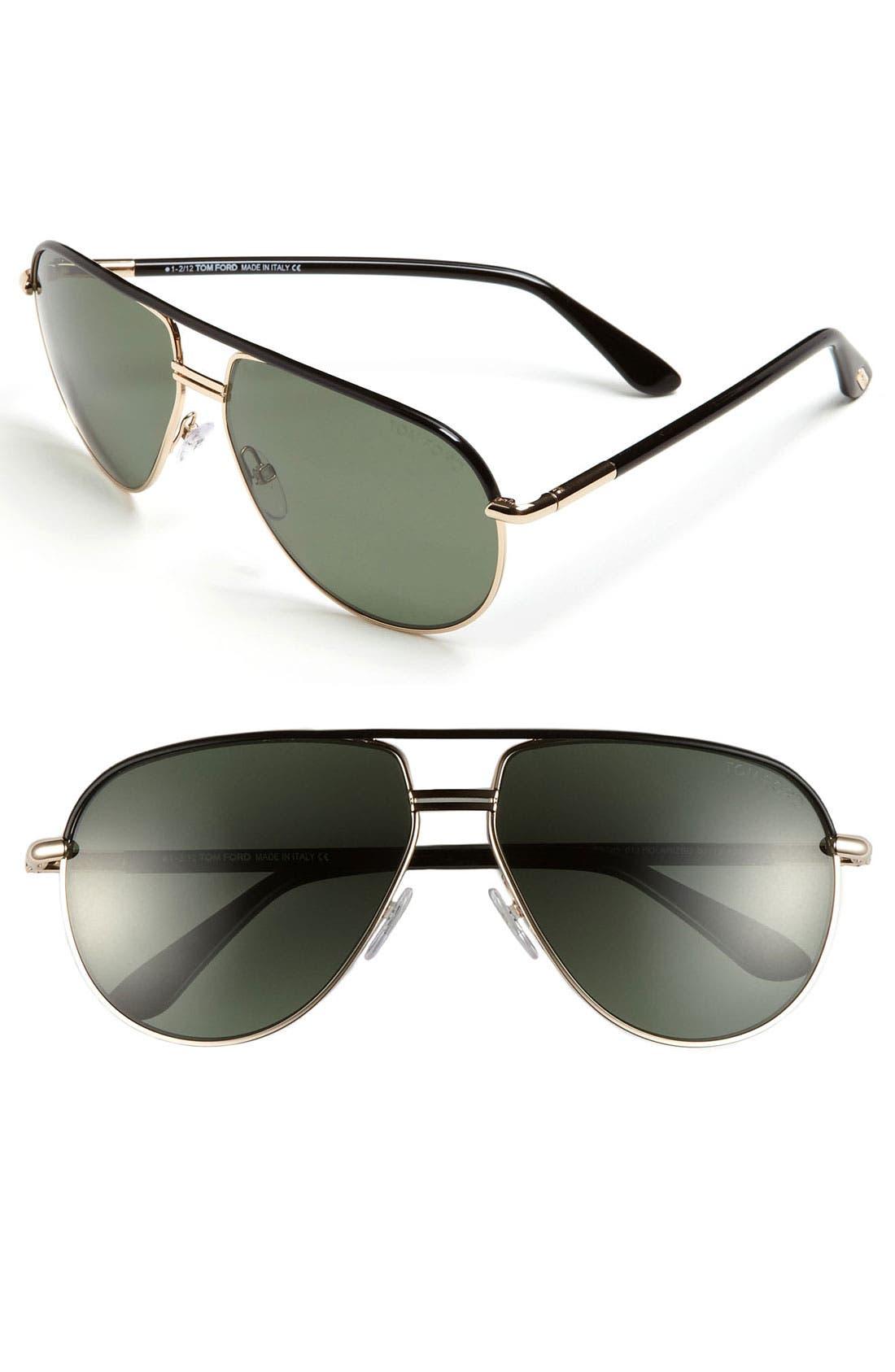 Main Image - Tom Ford 'Cole' 61mm Polarized Aviator Sunglasses