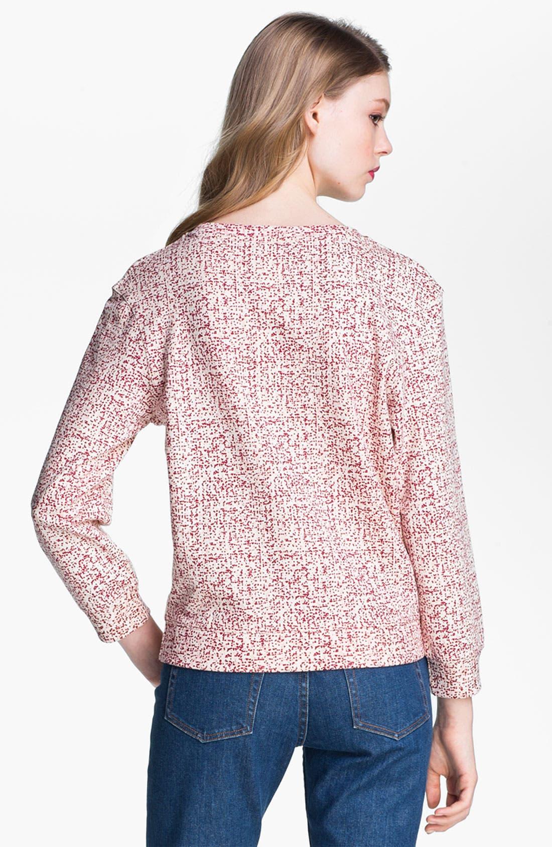 Alternate Image 3  - A.P.C. Print Blouson Sleeve Cotton Sweatshirt