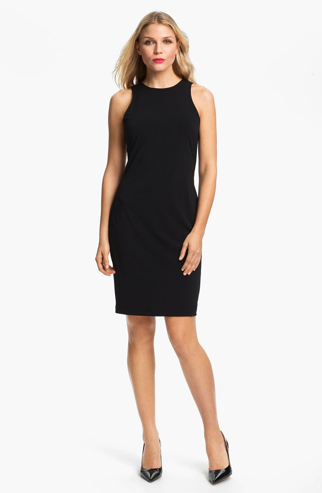 Sleeveless Sheath Dress,                             Main thumbnail 1, color,                             Black