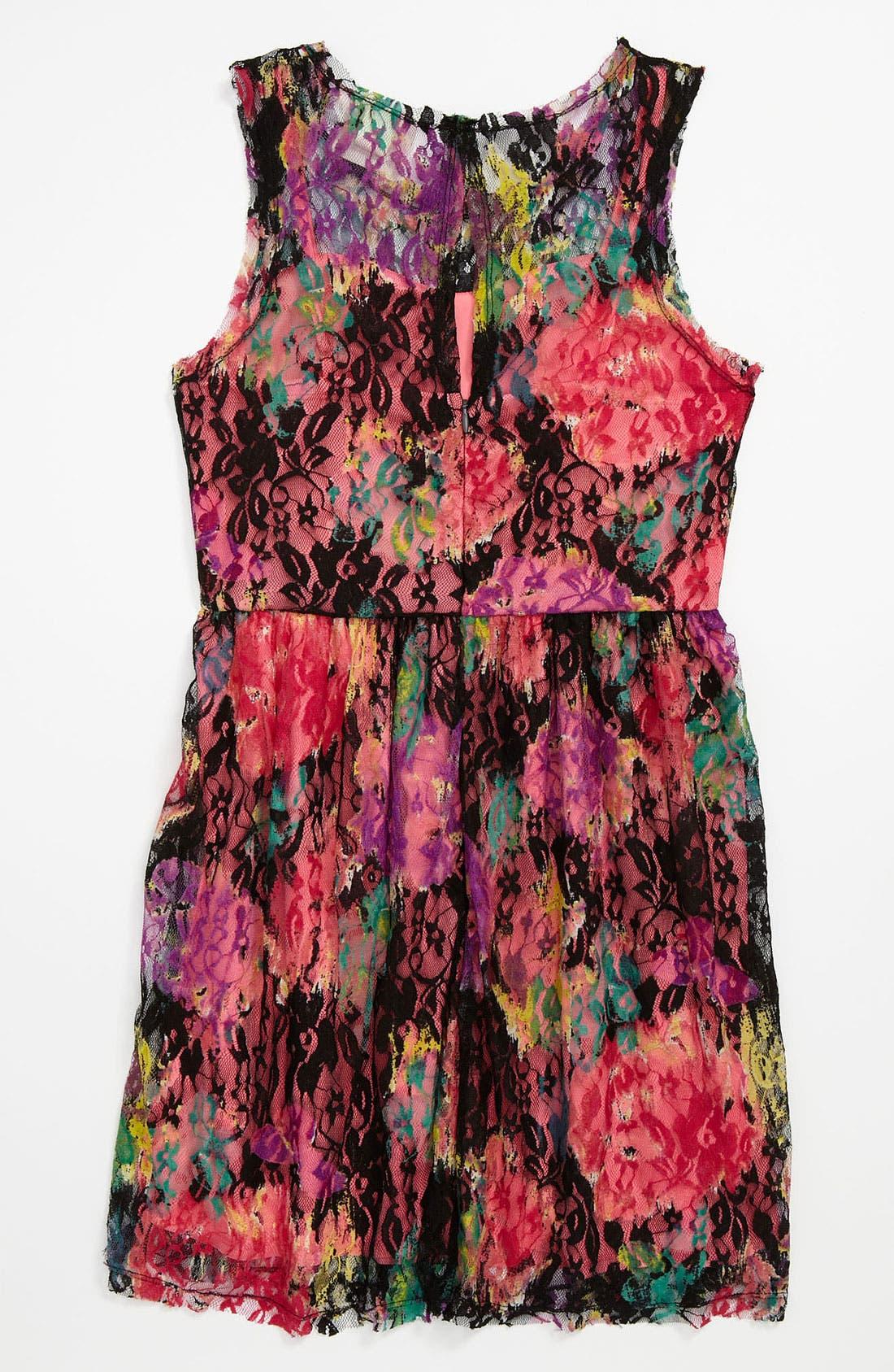 Alternate Image 2  - Little Pretties Lace Dress (Big Girls)