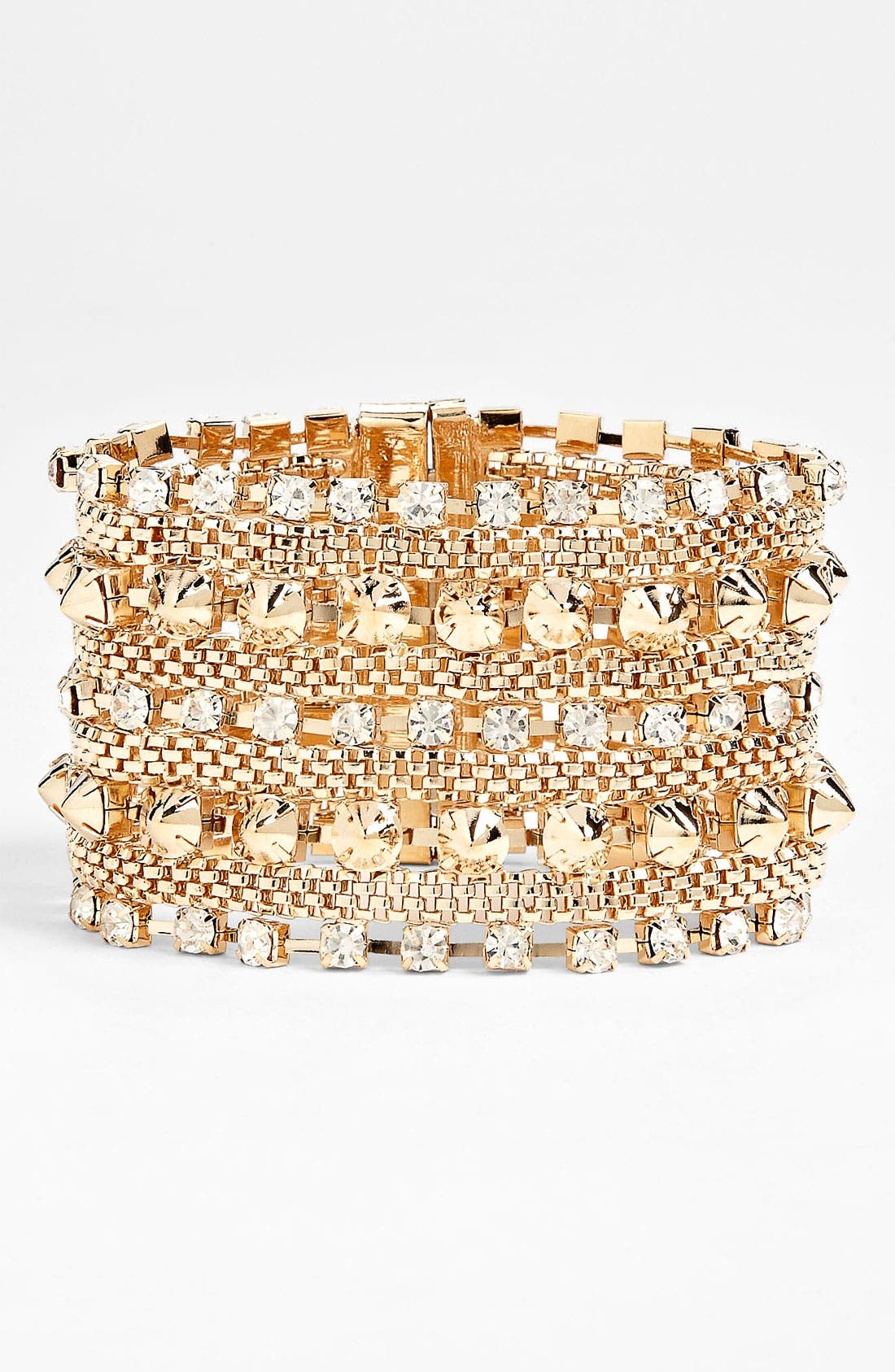 Alternate Image 1 Selected - BP. Rhinestone & Stud Bracelet