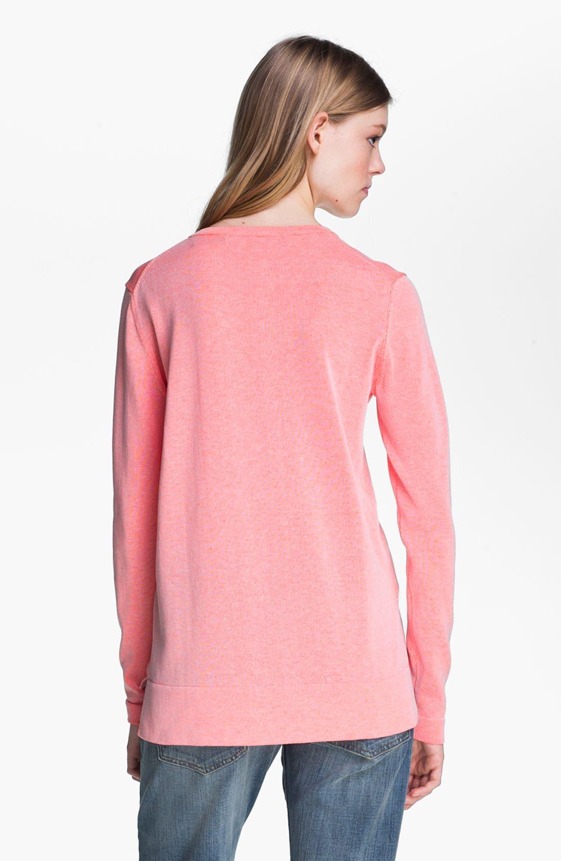 Alternate Image 4  - Tibi Reversible Neon Plaited Sweatshirt