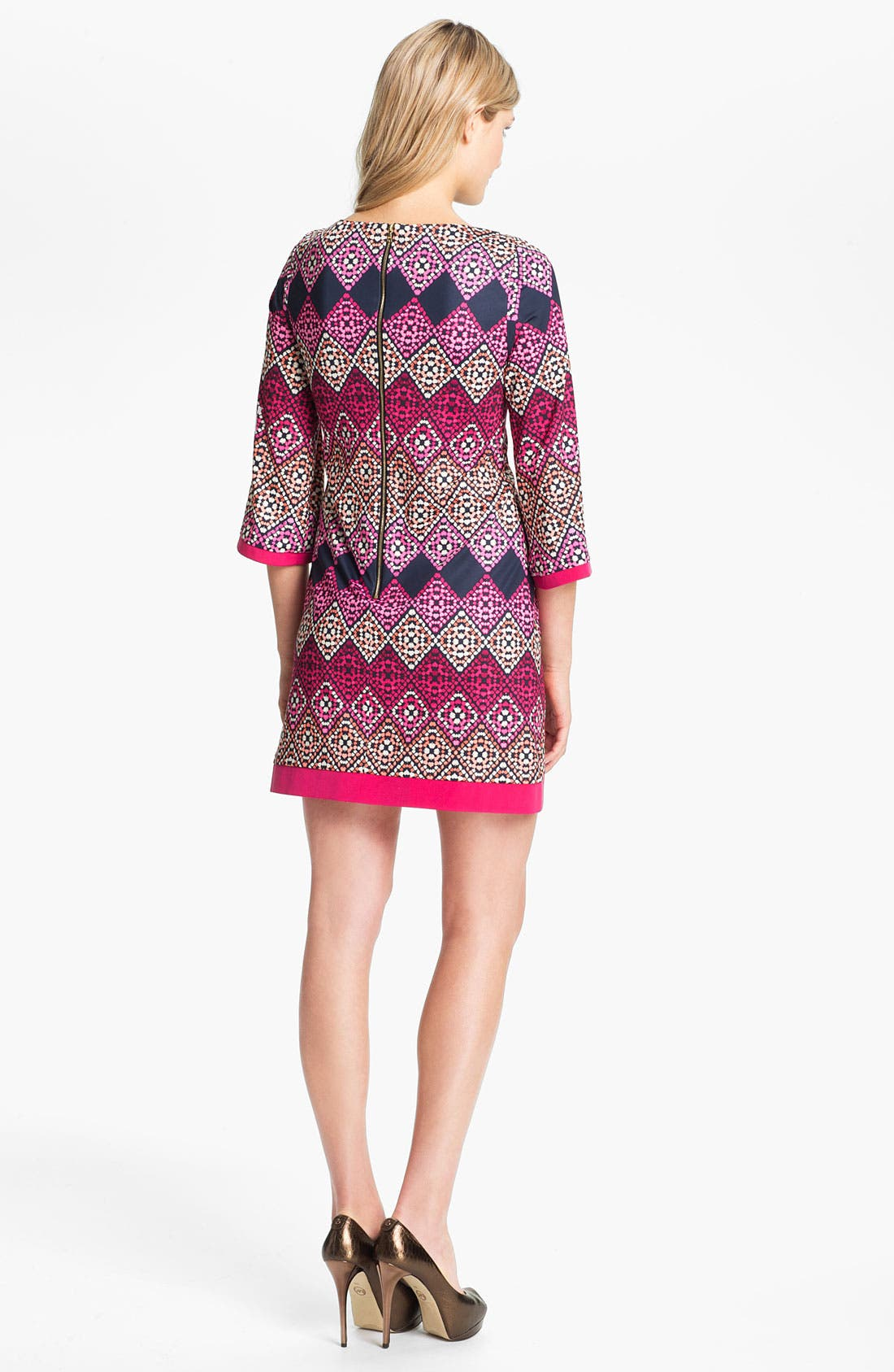 Alternate Image 2  - Eliza J Diamond Print Jersey Shift Dress