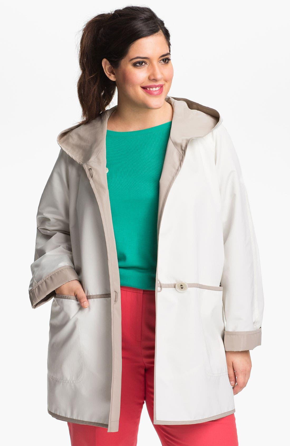 Alternate Image 1 Selected - Gallery Reversible Hooded Jacket (Plus Size)