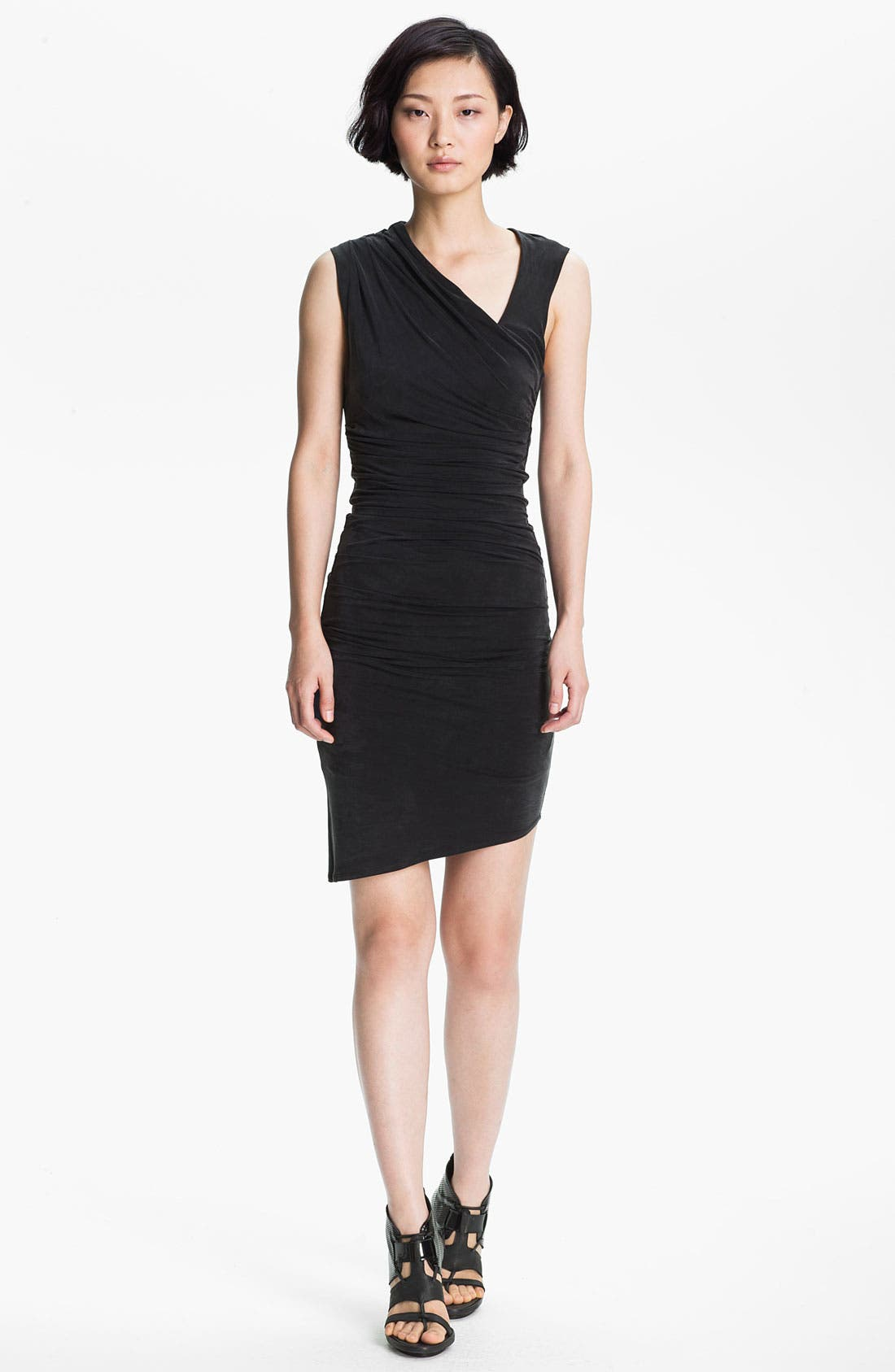 Main Image - HELMUT Helmut Lang Draped Stretch Knit Dress