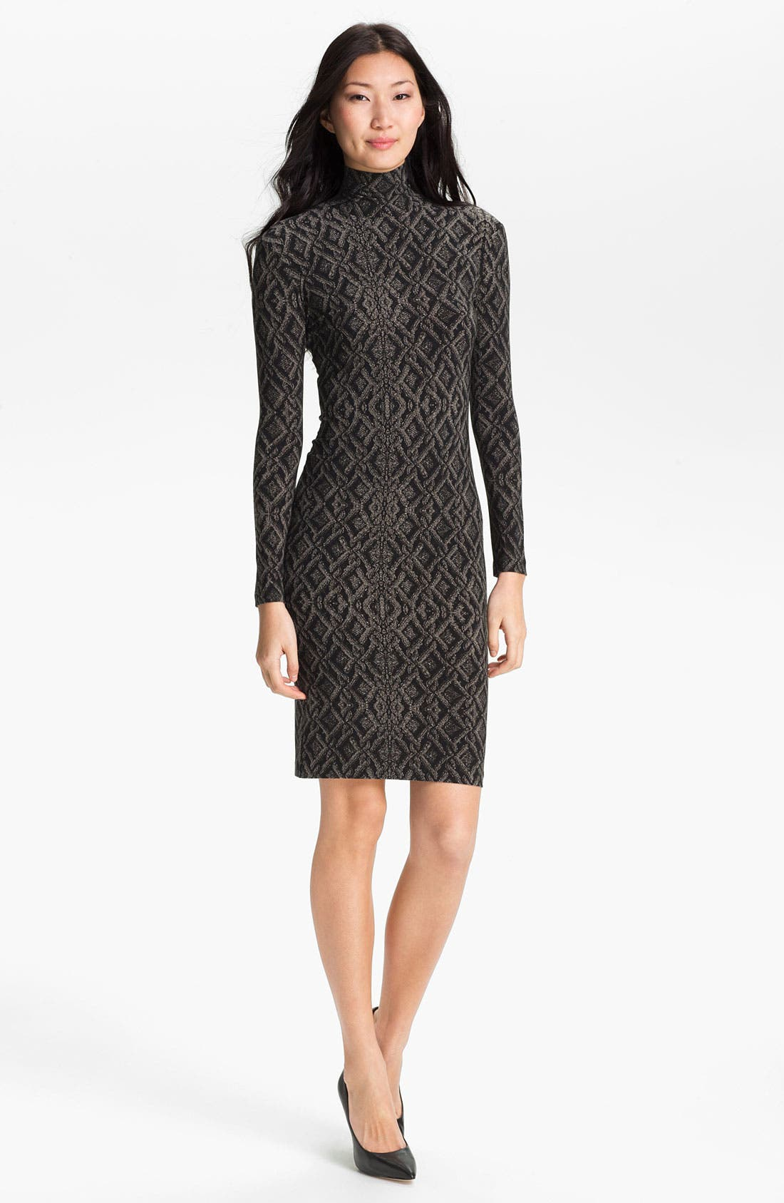 Alternate Image 1 Selected - KAMALIKULTURE Contoured Turtleneck Dress