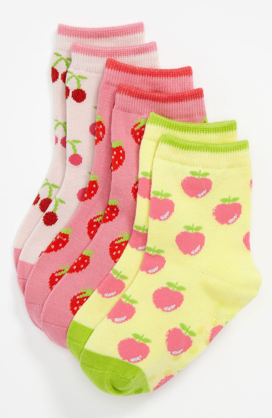 Alternate Image 1 Selected - Nordstrom 'Bright Bites' Crew Socks (3-Pack) (Girls)