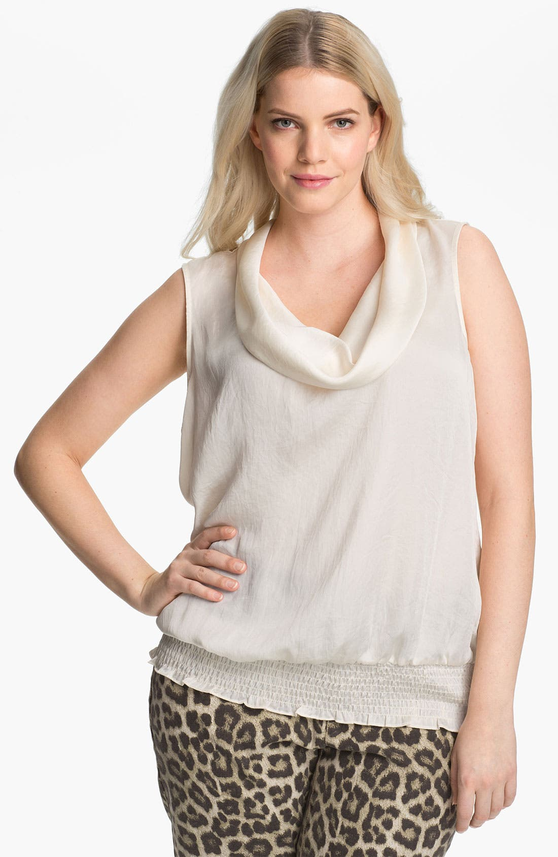 Alternate Image 1 Selected - MICHAEL Michael Kors Sleeveless Cowl Neck Top (Plus)
