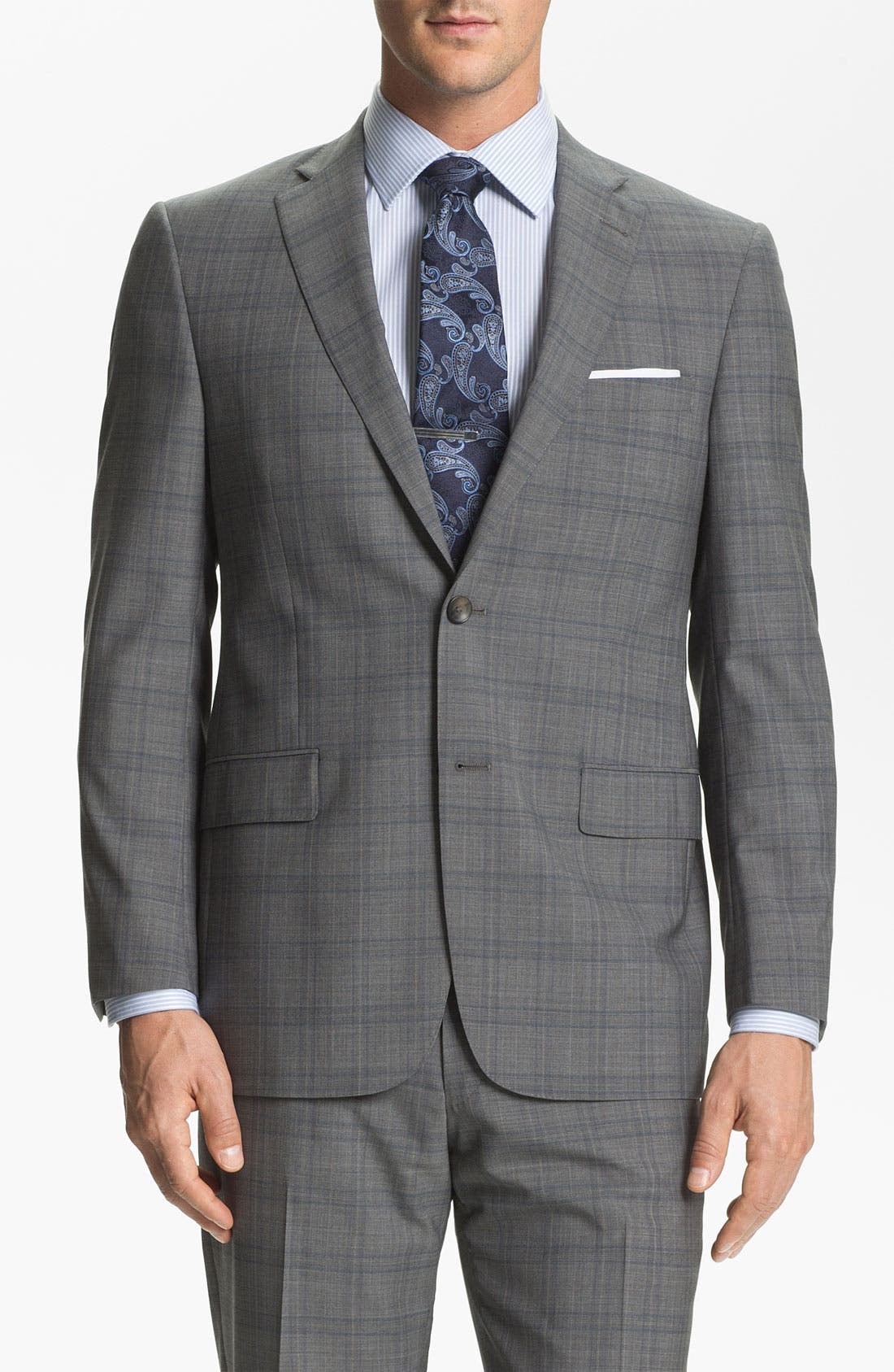 Alternate Image 1 Selected - Hart Schaffner Marx Plaid Wool Suit
