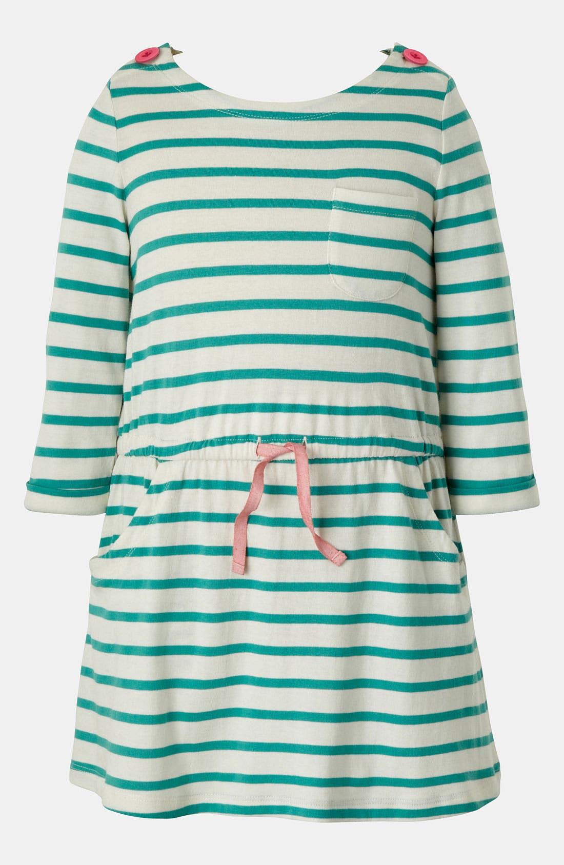 Main Image - Mini Boden Boat Neck Dress (Toddler, Little Girls & Big Girls)