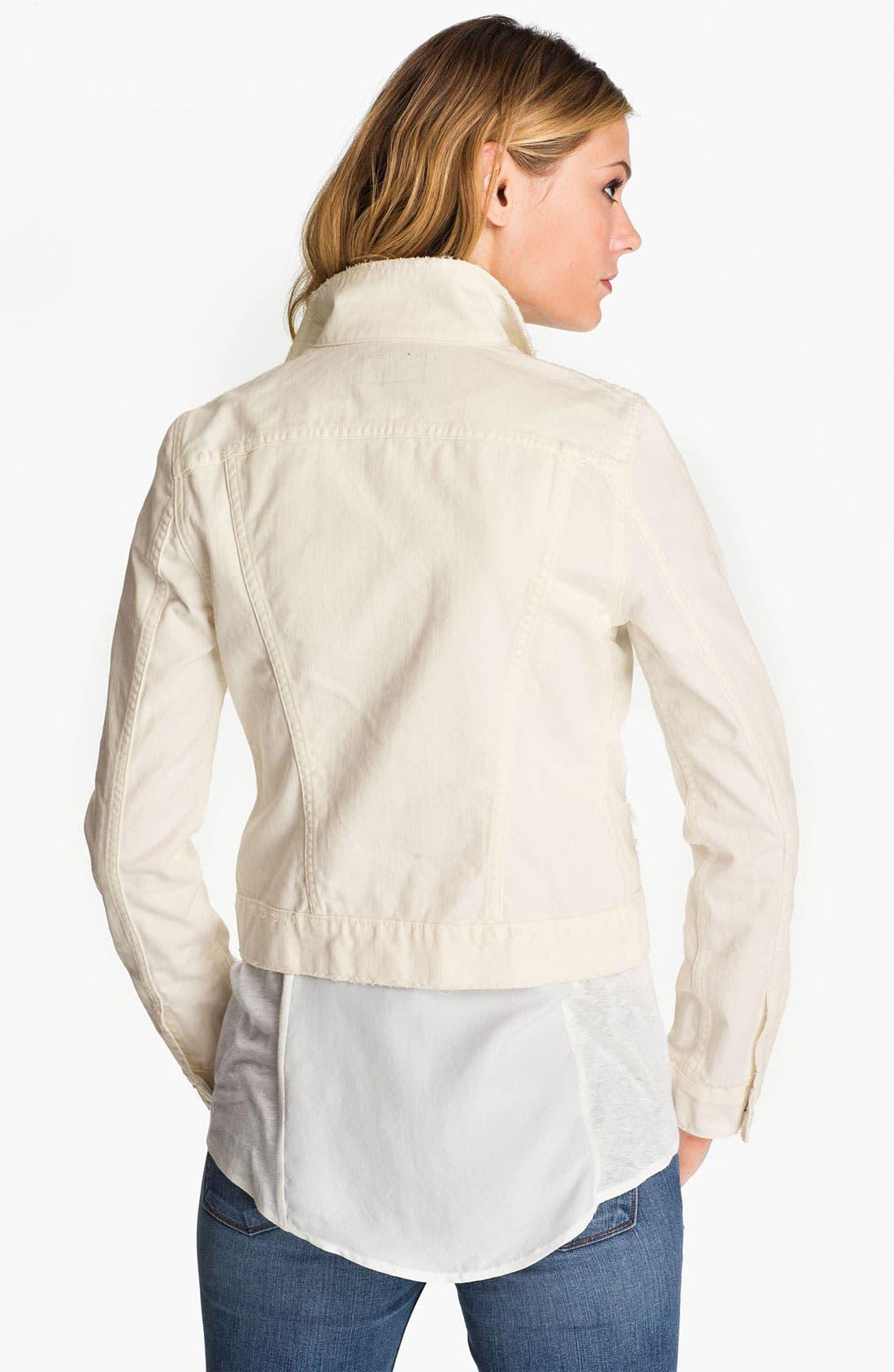Alternate Image 2  - J Brand 'Beat Down' Distressed Denim Jacket (Immortal)