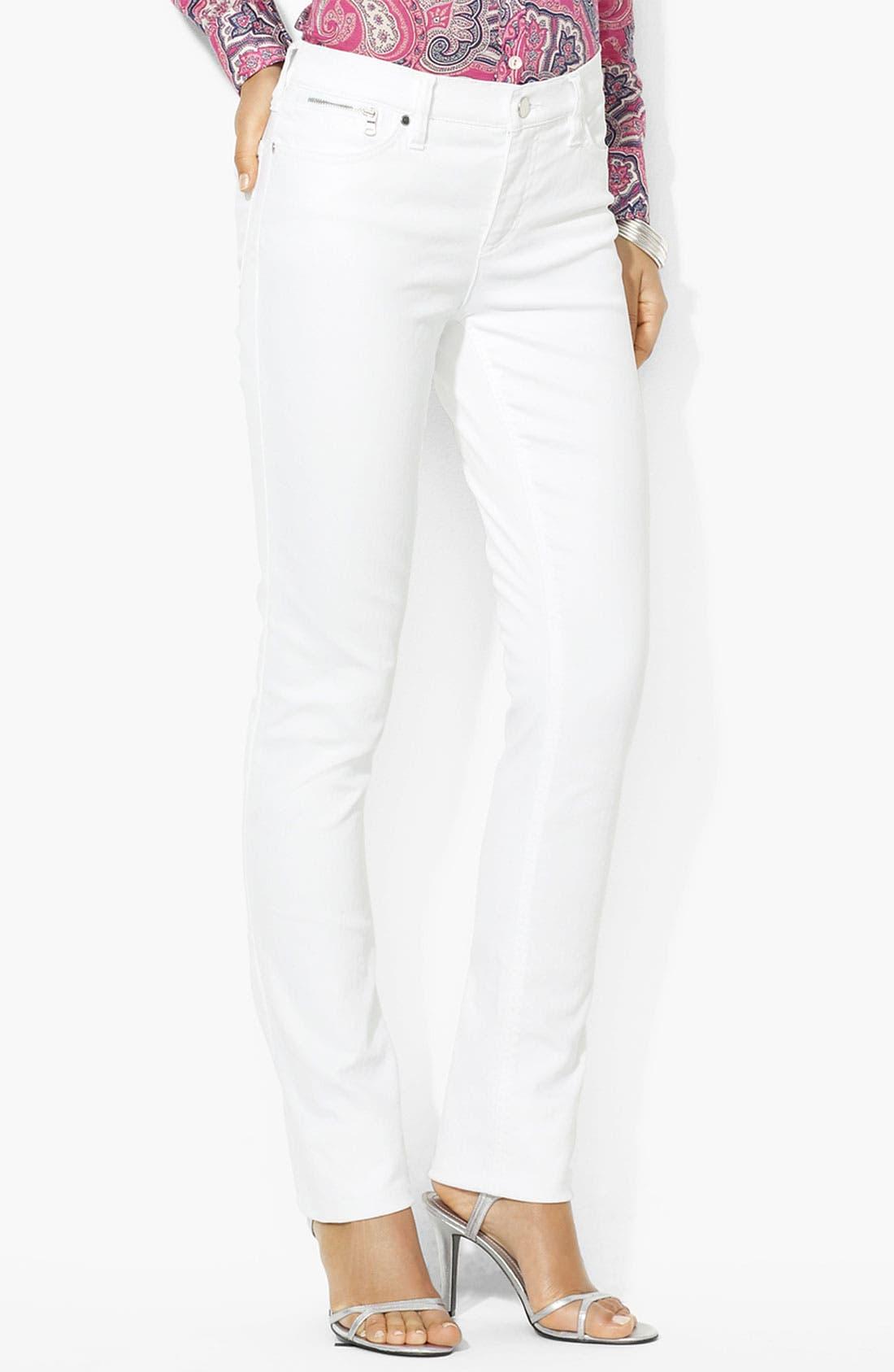 Alternate Image 1 Selected - Lauren Ralph Lauren Slim Straight Leg Pants