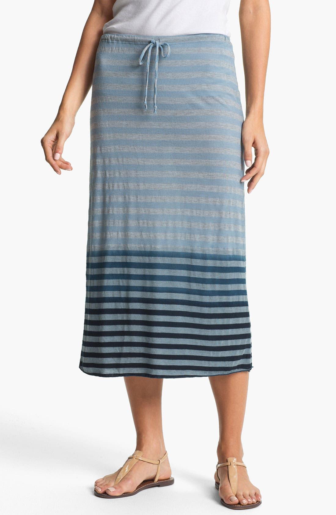 Alternate Image 1 Selected - Allen Allen Ombré Stripe Tube Skirt